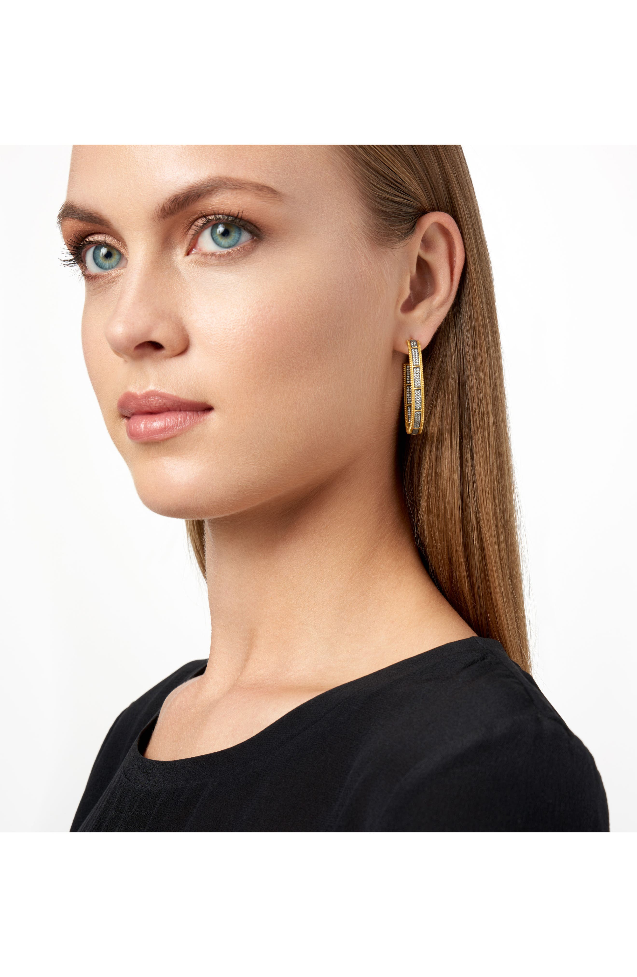 All Around Cubic Zirconia Hoops,                             Alternate thumbnail 2, color,