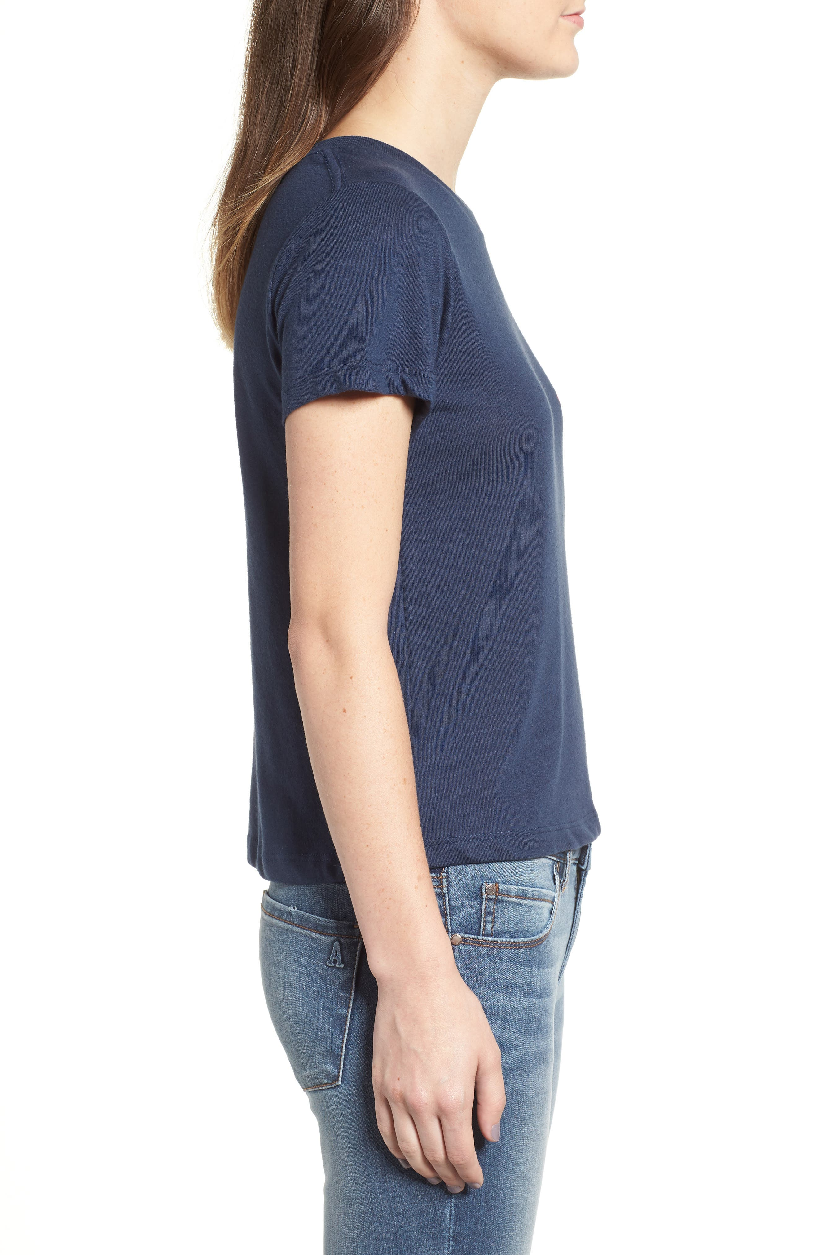 Embroidered Heart Tee,                             Alternate thumbnail 6, color,