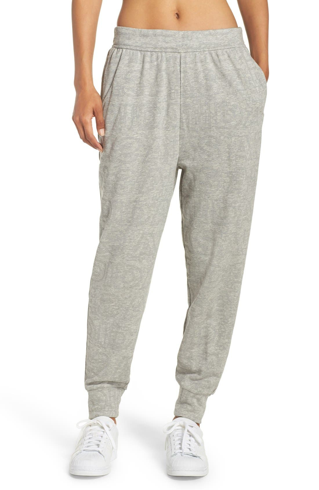 ADIDAS,                             Boyfriend Lounge Pants,                             Main thumbnail 1, color,                             035