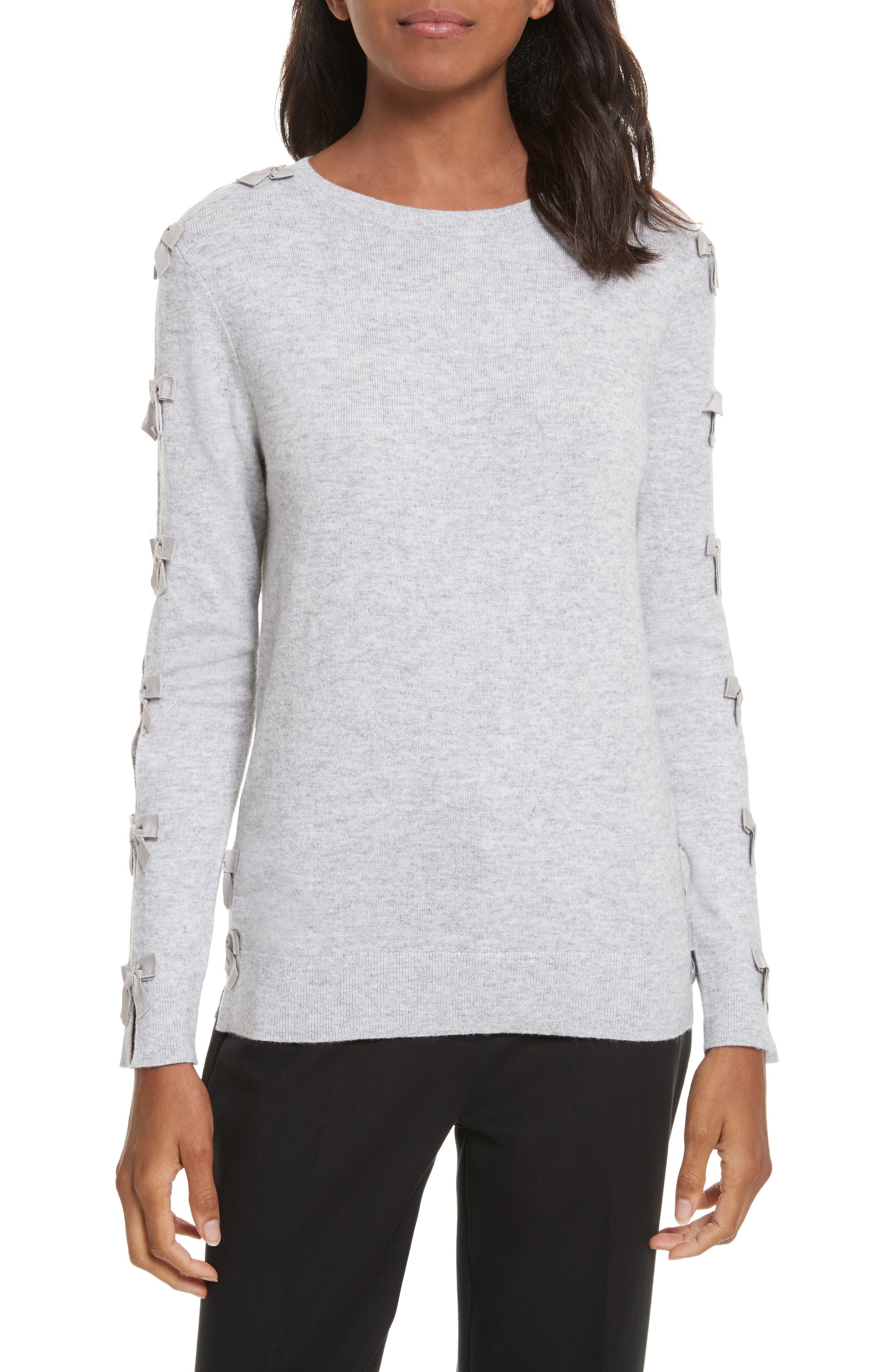 Bow Sleeve Sweater,                             Main thumbnail 1, color,                             050