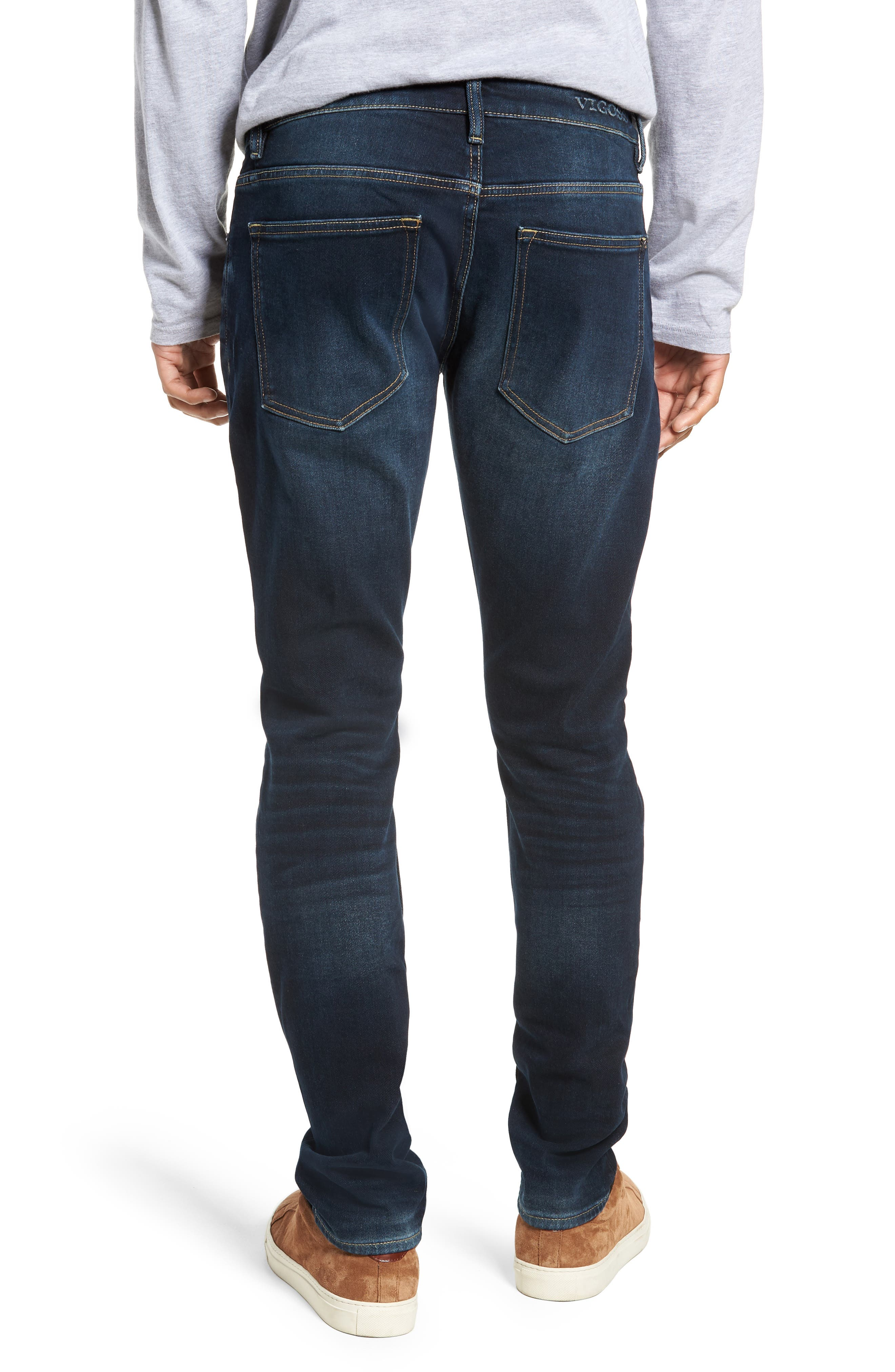 Jude Slim Fit Jeans,                             Alternate thumbnail 2, color,                             DARK 3D WASH