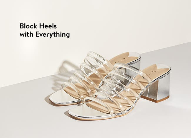 Women's block-heel sandals.