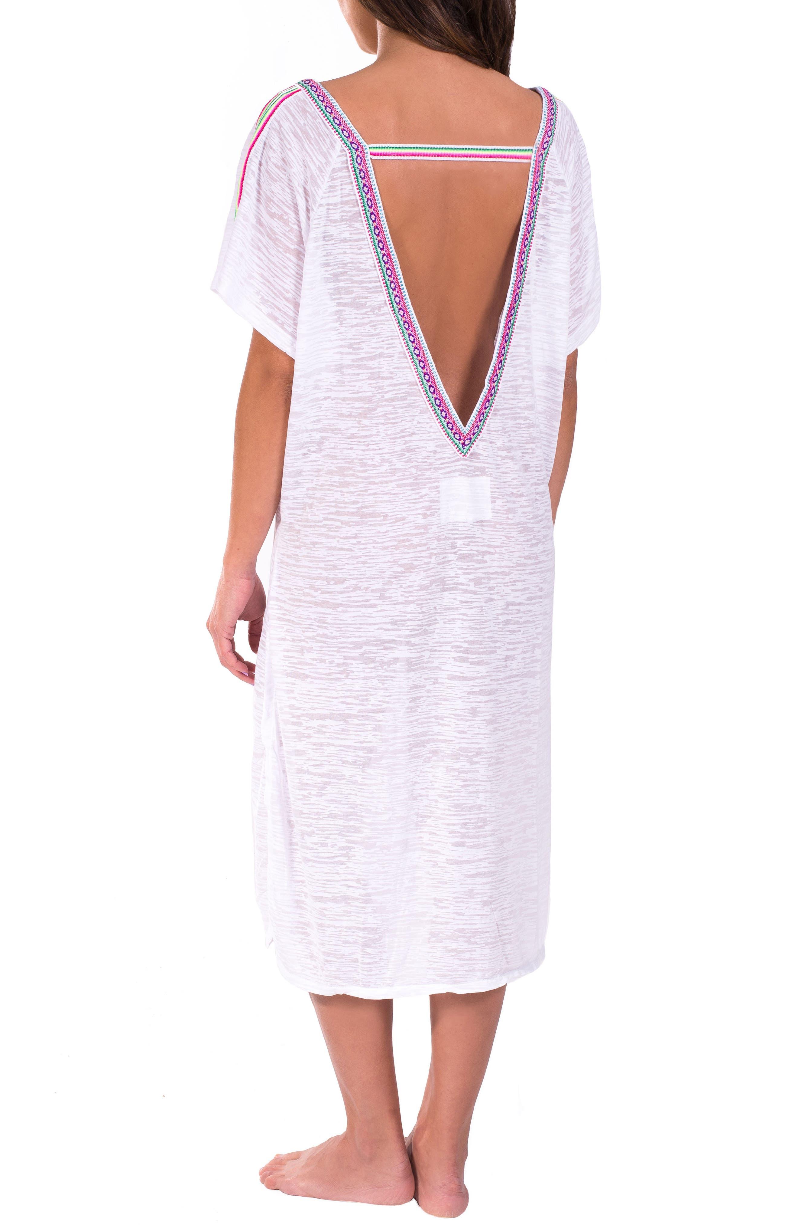 Cover-Up Midi Dress,                             Alternate thumbnail 6, color,