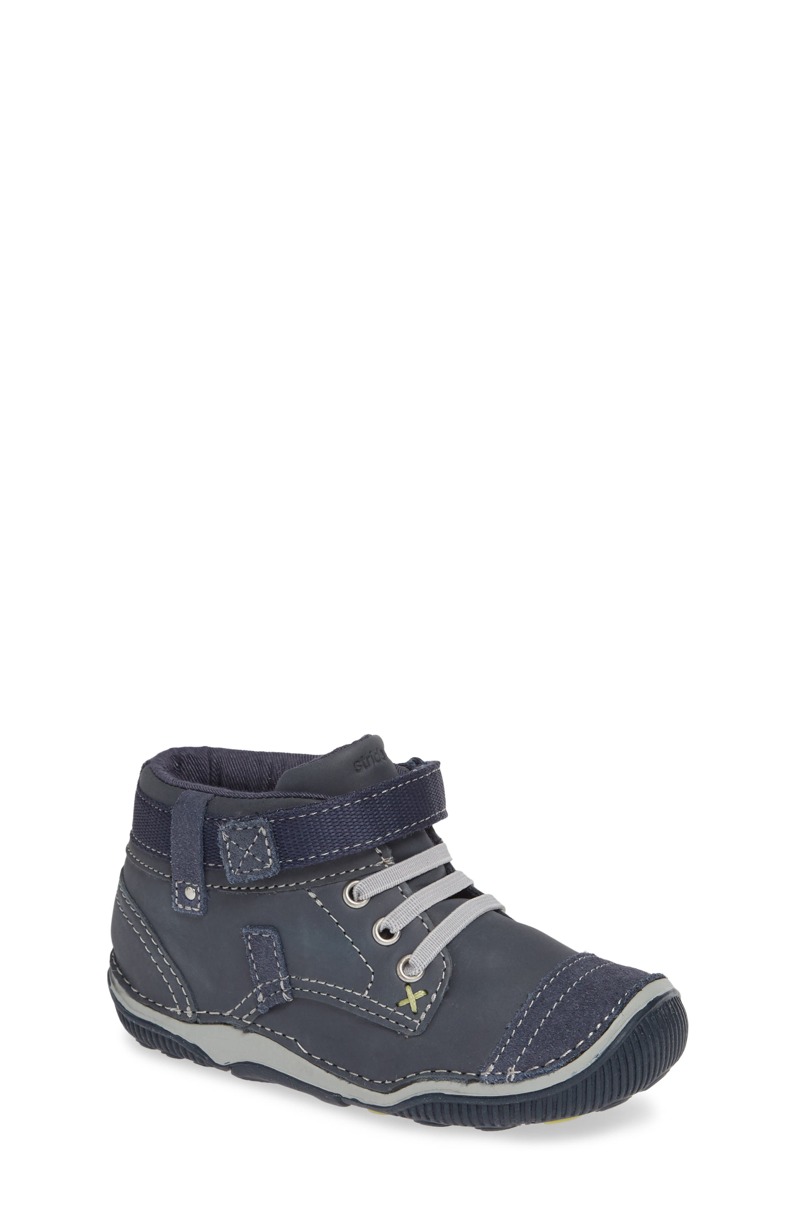 'Garrett' High Top Bootie Sneaker,                             Main thumbnail 1, color,                             NAVY