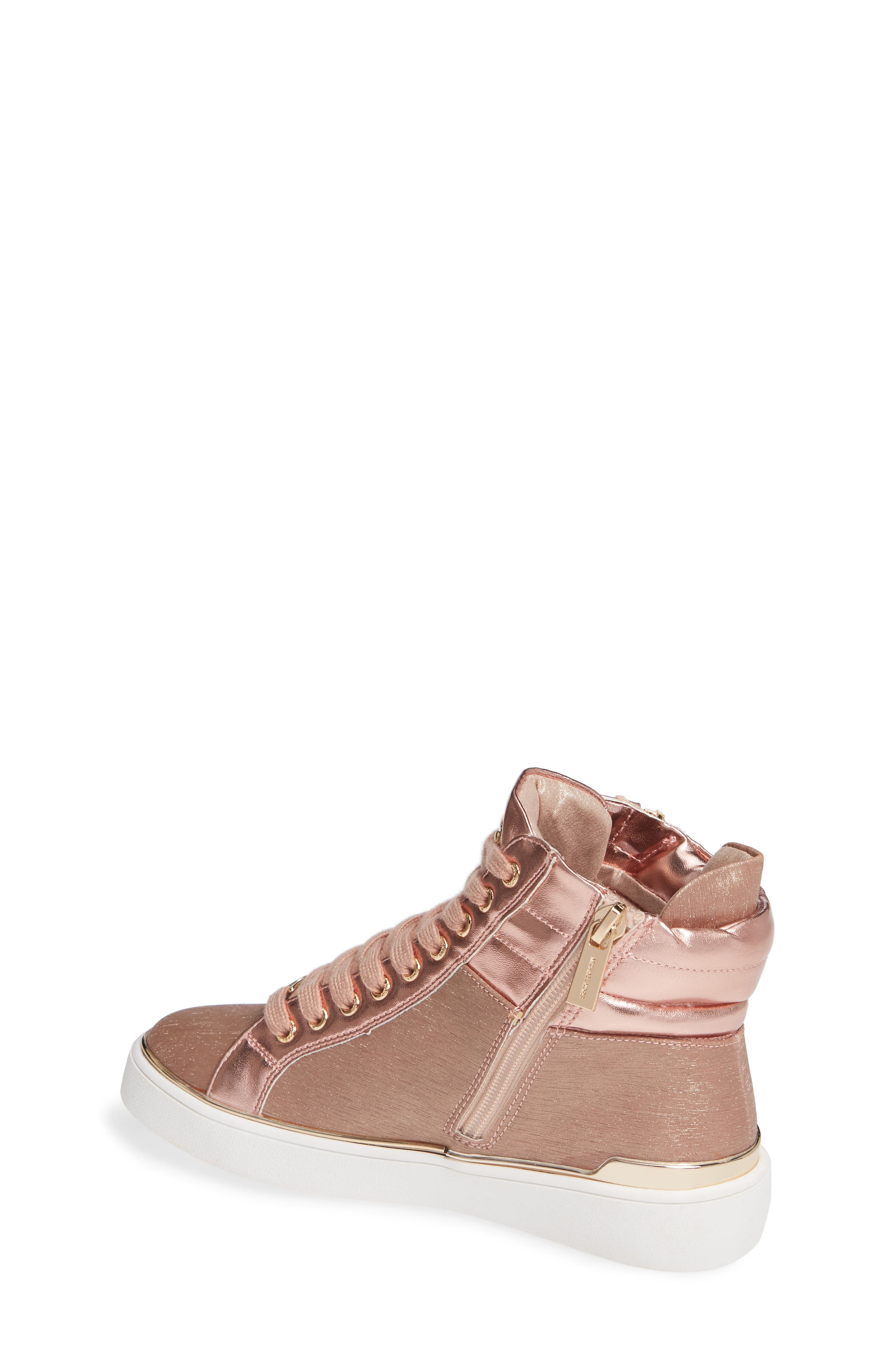 High Top Sneaker,                             Alternate thumbnail 2, color,                             ROSE GOLD
