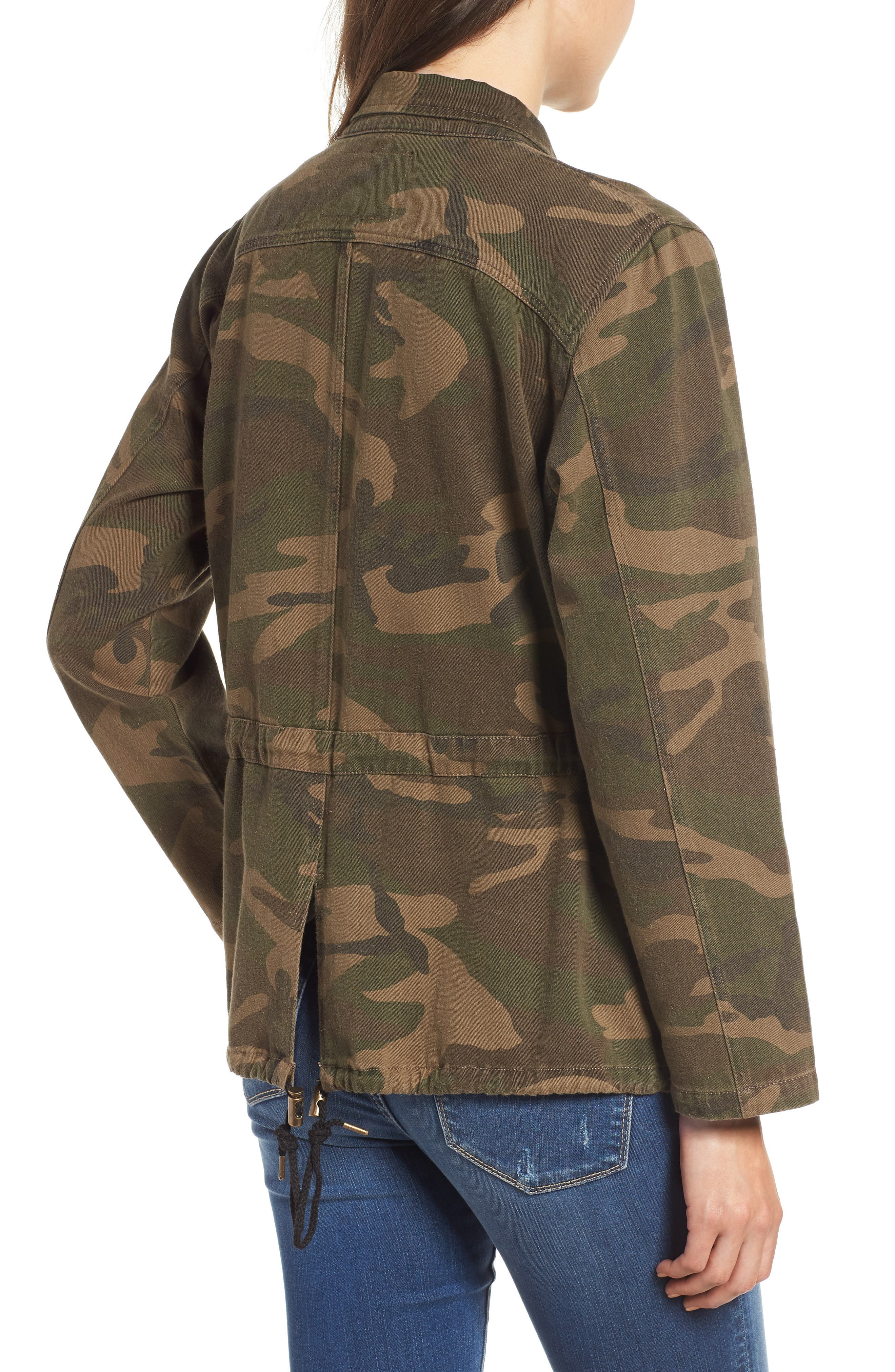 Camo Print Army Jacket,                             Alternate thumbnail 2, color,                             300