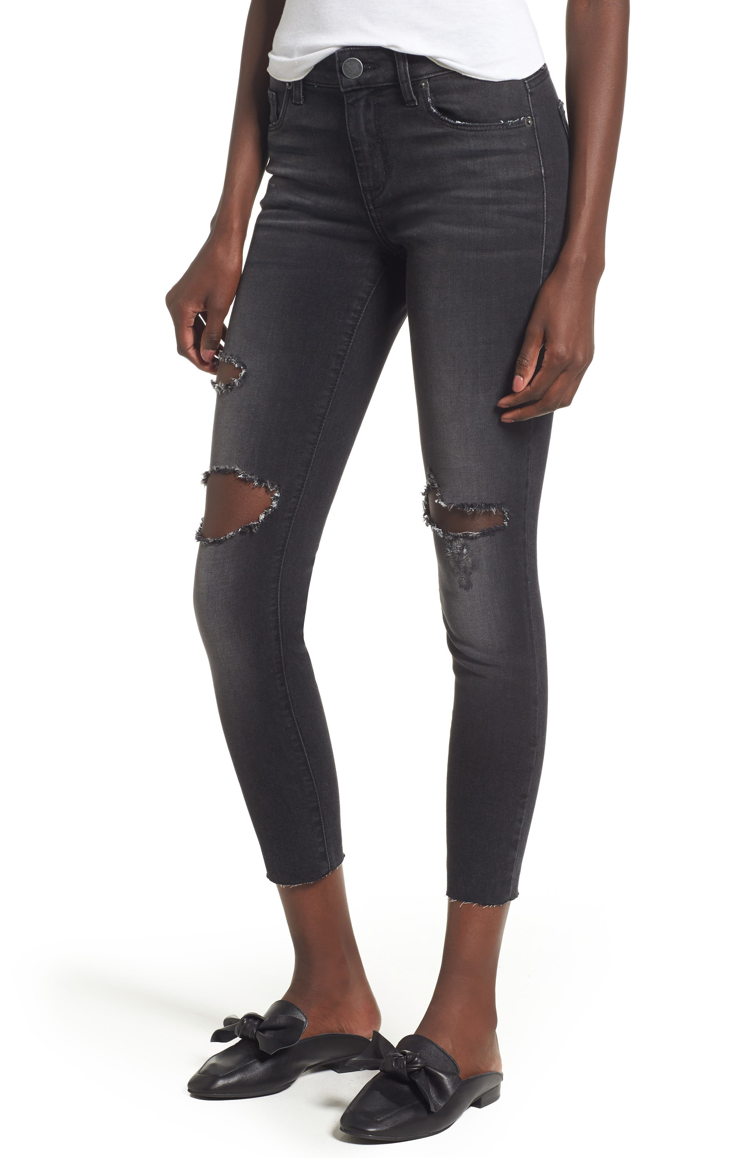 Emma Ripped Crop Jeans,                             Main thumbnail 1, color,                             001