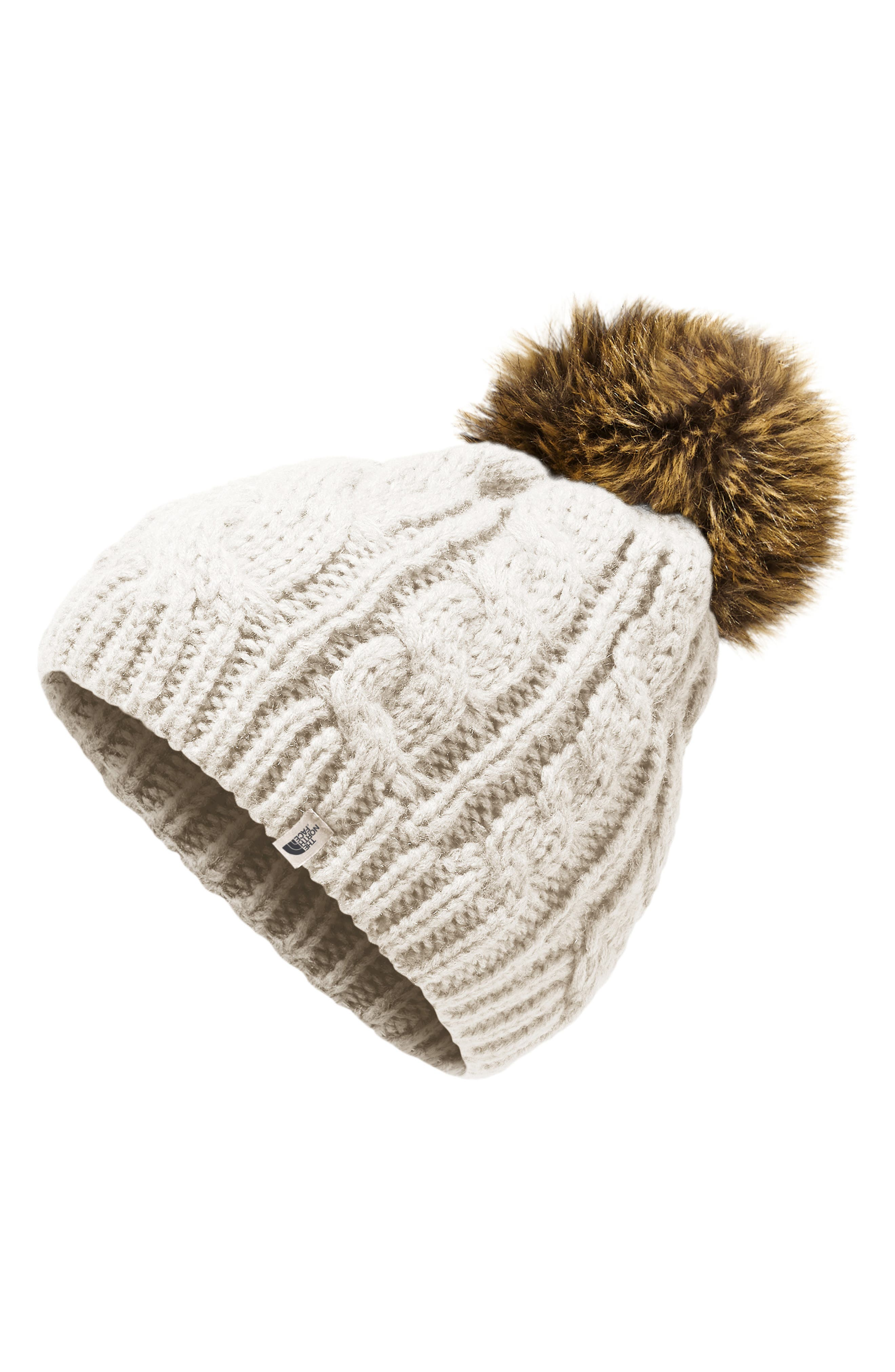 Oh-Mega Faux Fur Pom Beanie, Main, color, 100