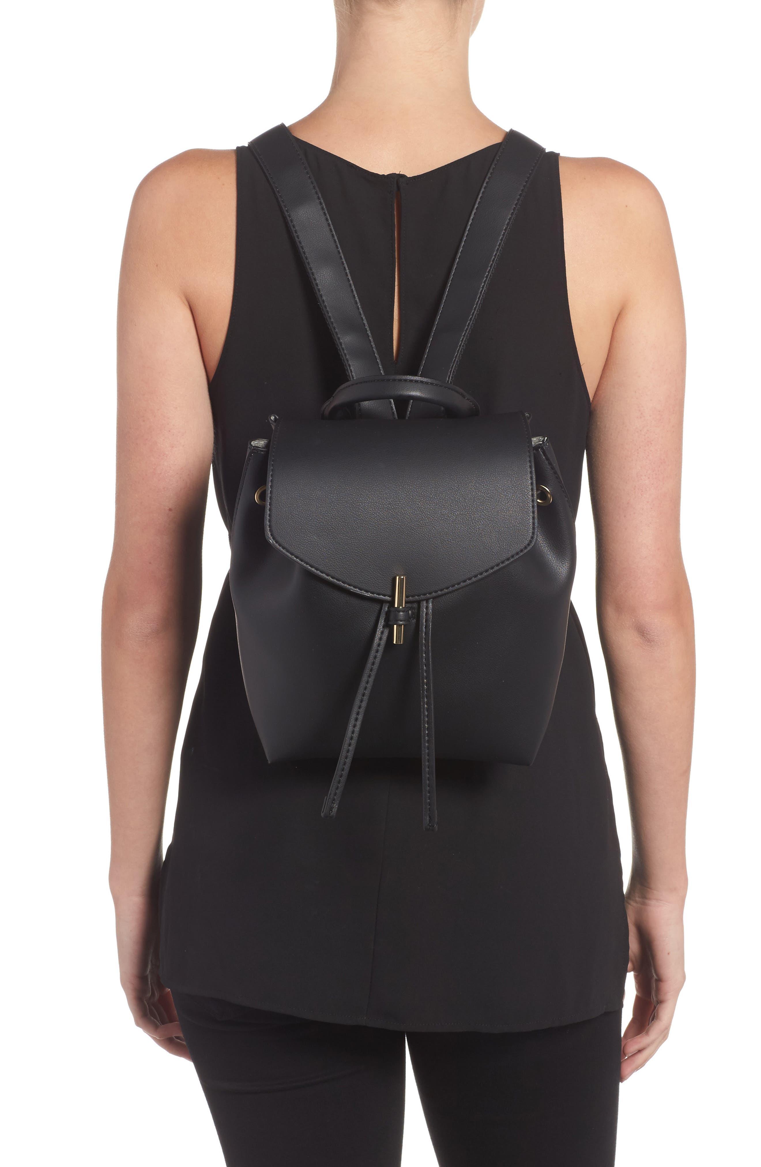 Blake Mini Faux Leather Backpack,                             Alternate thumbnail 3, color,