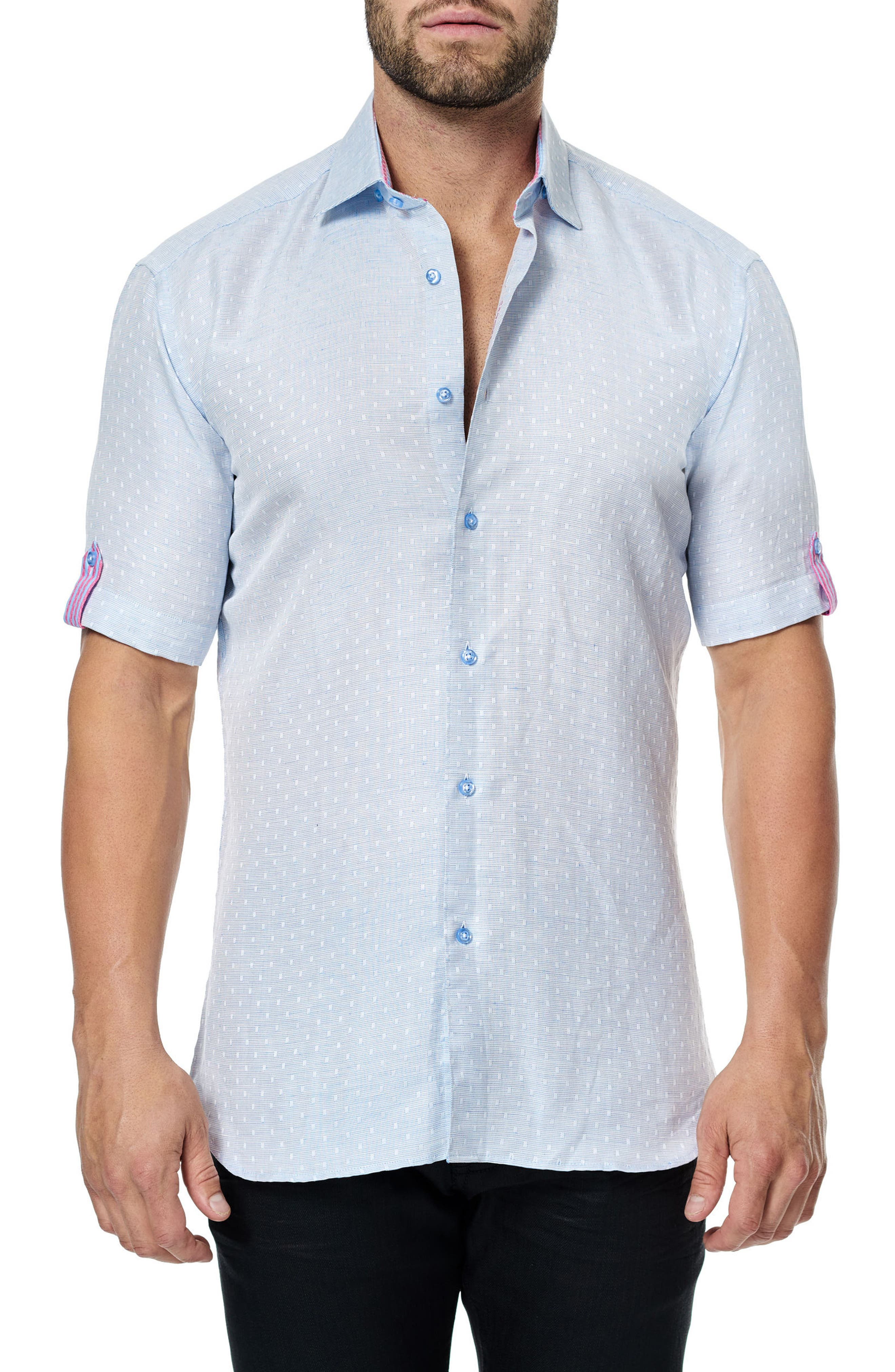 Fresh Jacquard Sport Shirt,                         Main,                         color, 450