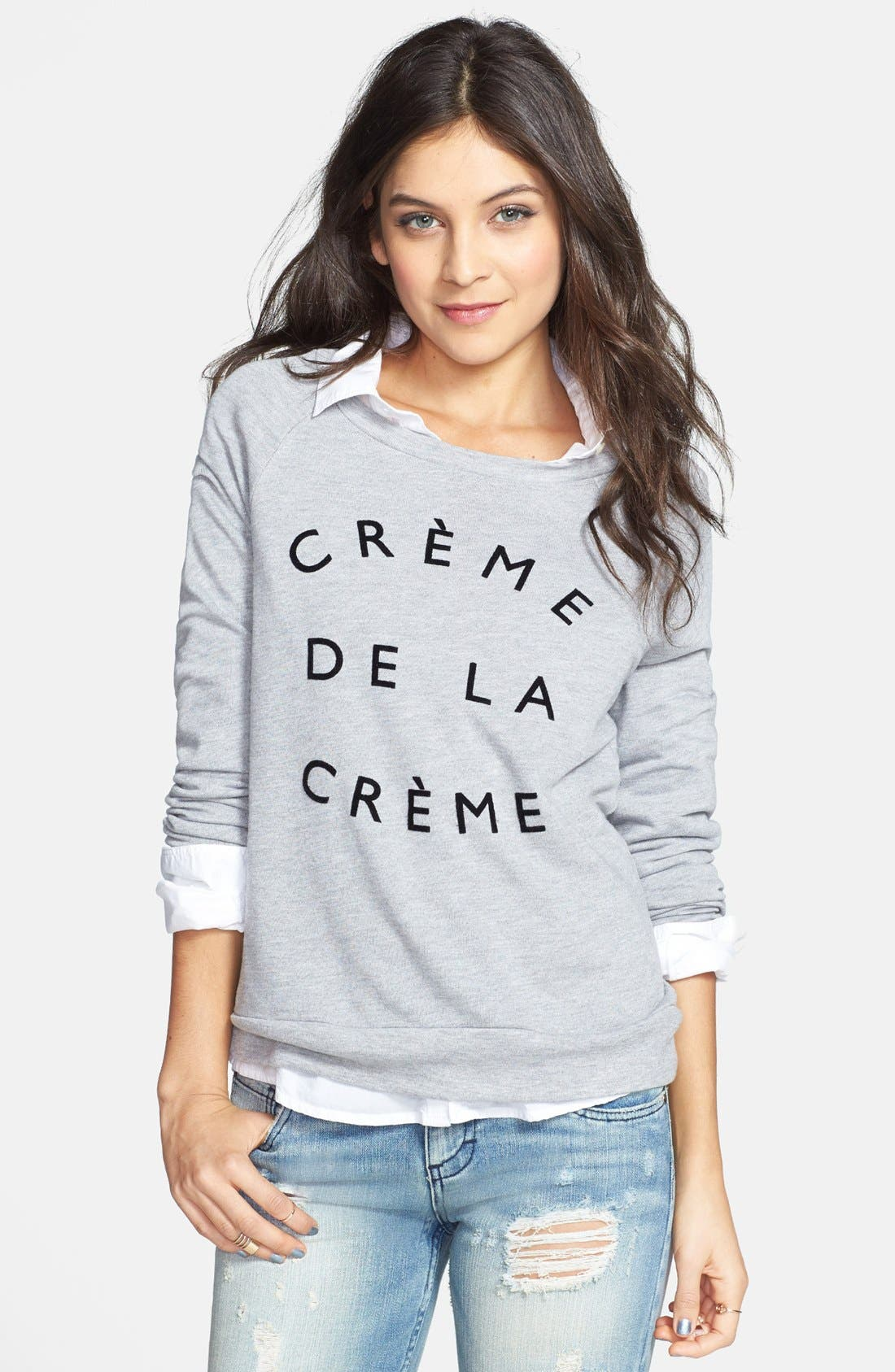 'Crème de la Crème' Pullover, Main, color, 052