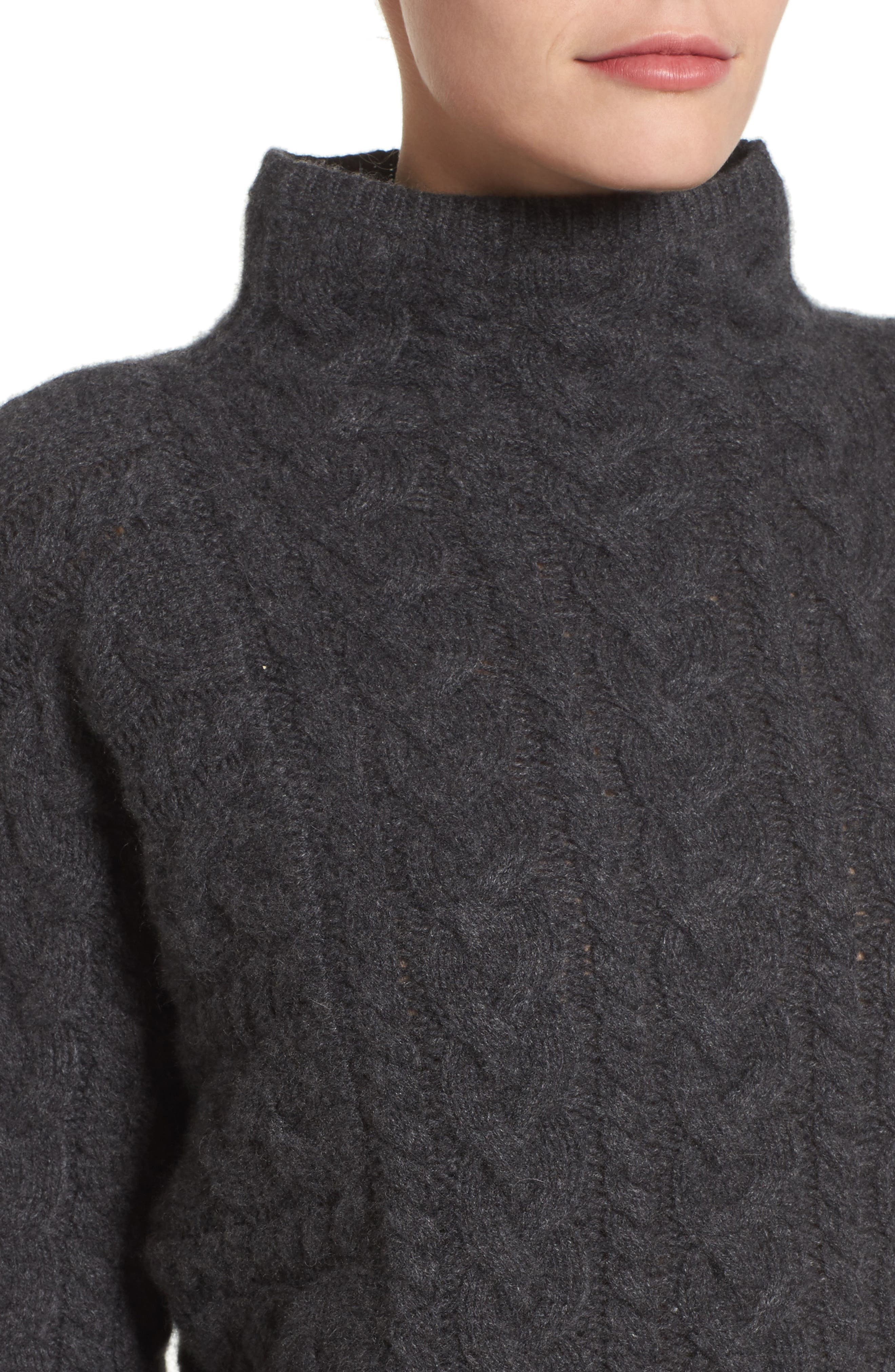 Cashmere Cable Sweater,                             Alternate thumbnail 4, color,                             021