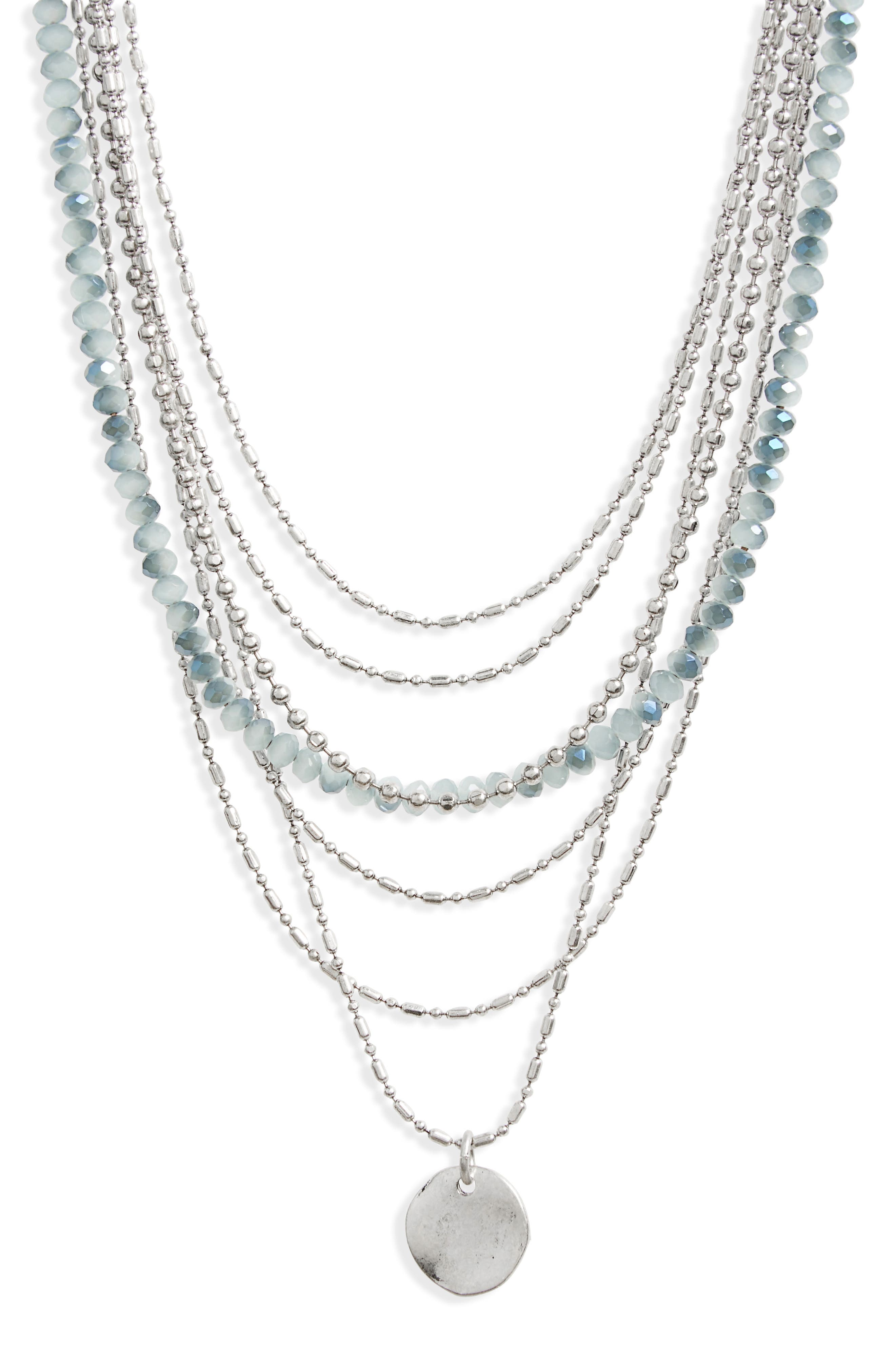 Seven-Layer Bead Necklace,                             Main thumbnail 2, color,