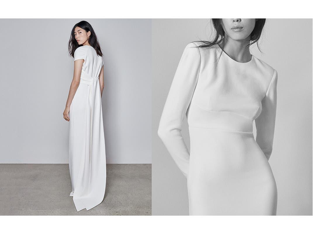 Model in Stella McCartney gown.