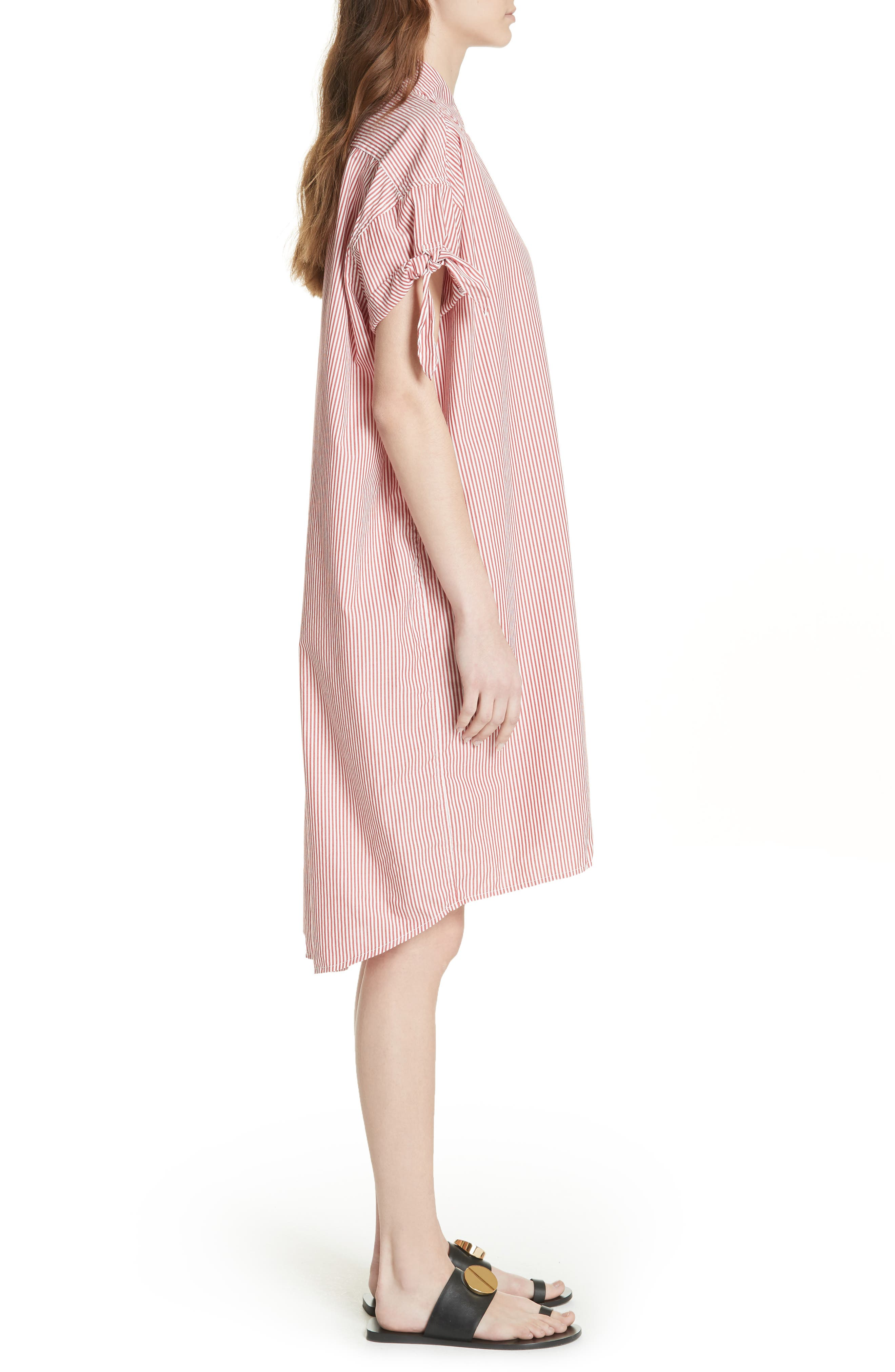 The Tie Sleeve Camper Shirtdress,                             Alternate thumbnail 3, color,                             950