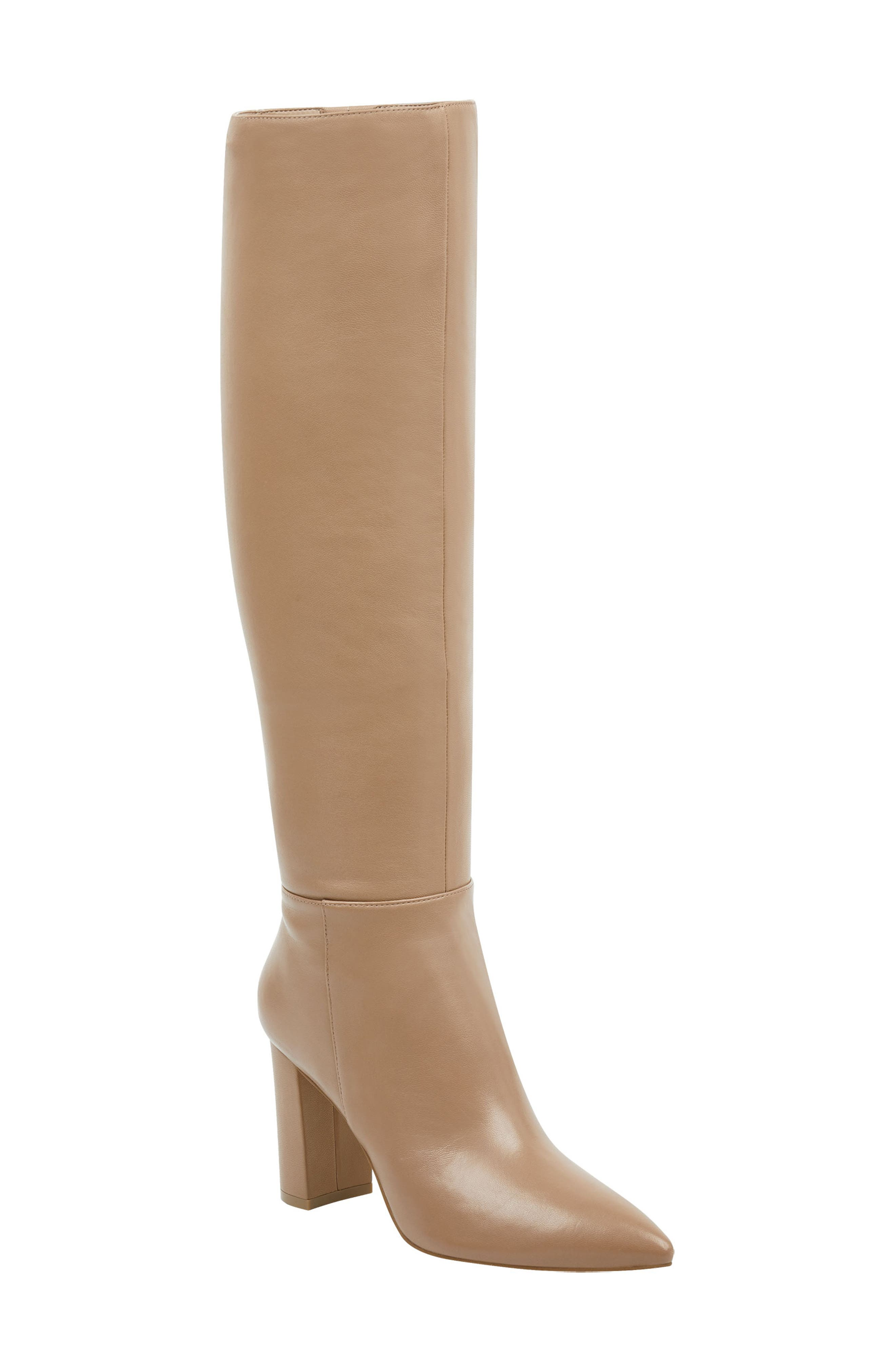 Ulana Knee High Boot, Main, color, CAMEL LEATHER