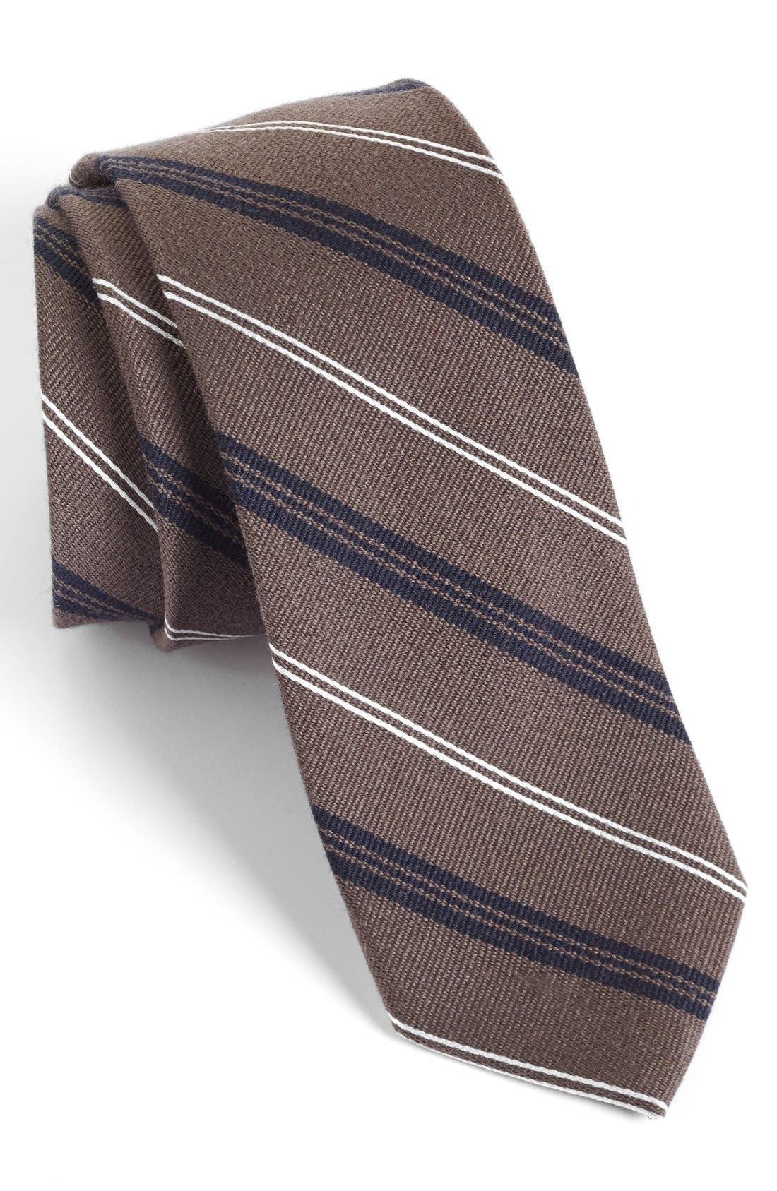 'Browne' Woven Wool & Silk Tie,                             Main thumbnail 1, color,
