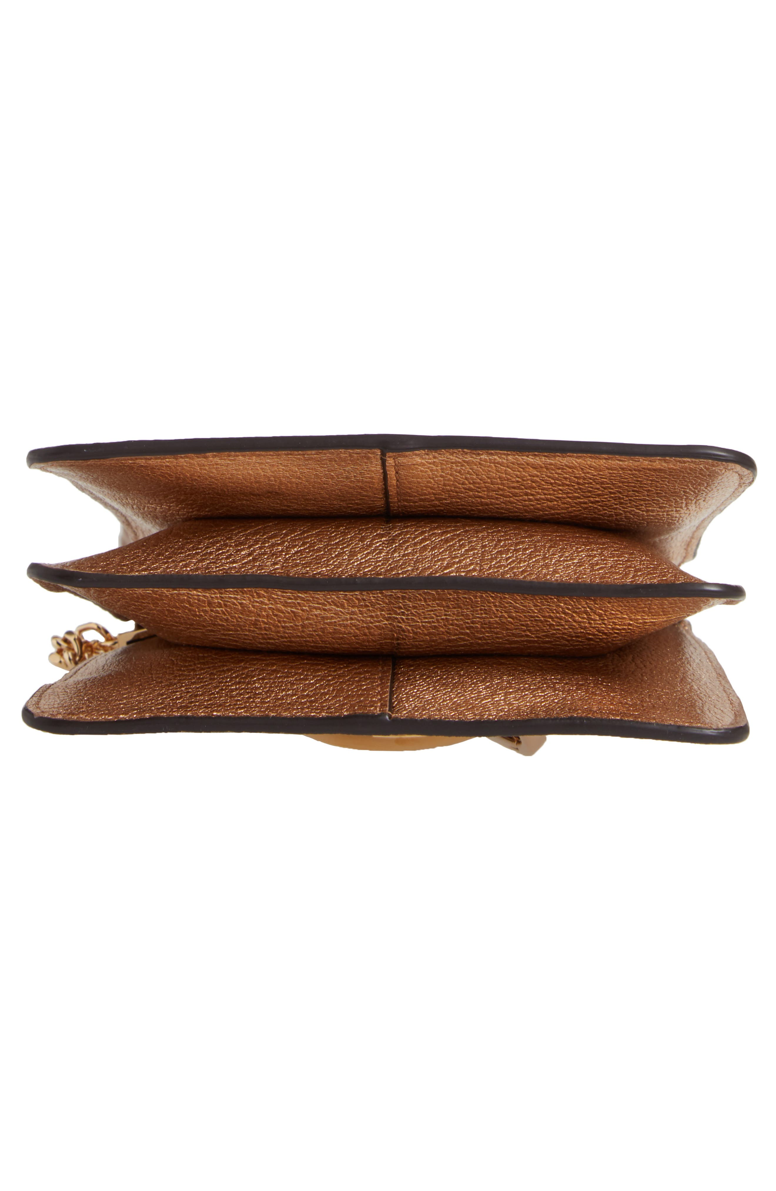 Faye Small Metallic Leather Bracelet Bag,                             Alternate thumbnail 7, color,                             GOLD