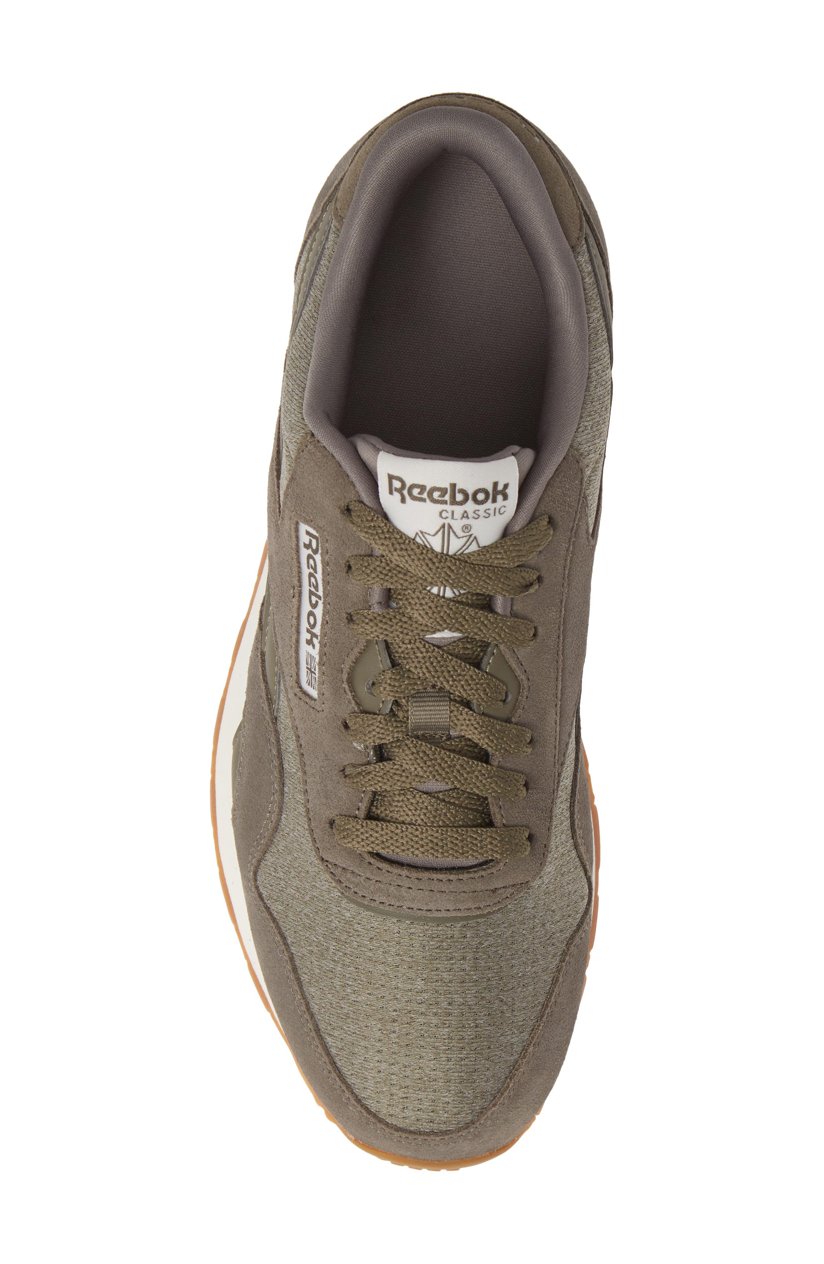Classic Leather Nylon SG Sneaker,                             Alternate thumbnail 5, color,                             TERRAIN GREY/ CHALK