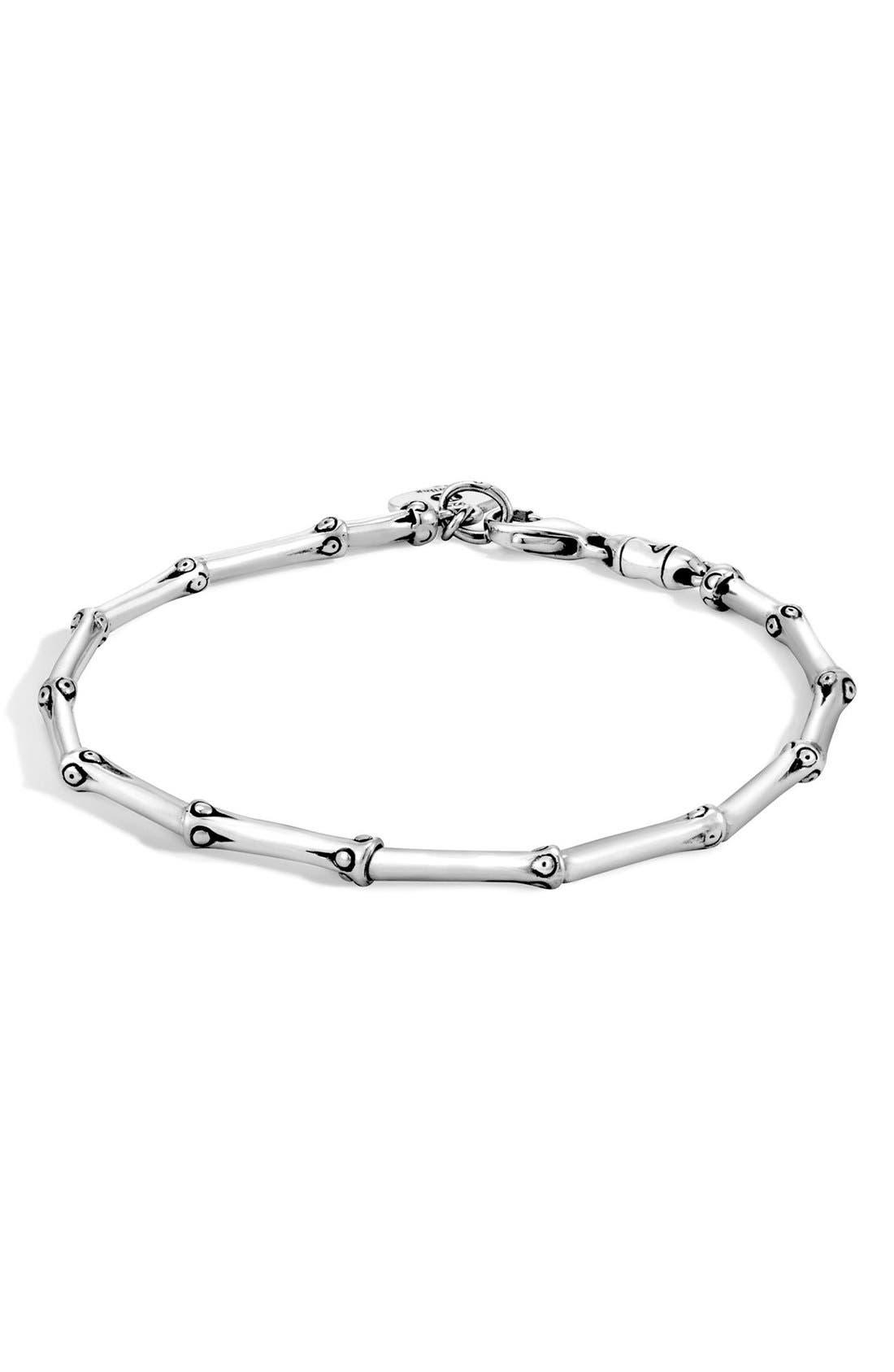 'Bamboo' Bracelet,                         Main,                         color, SILVER