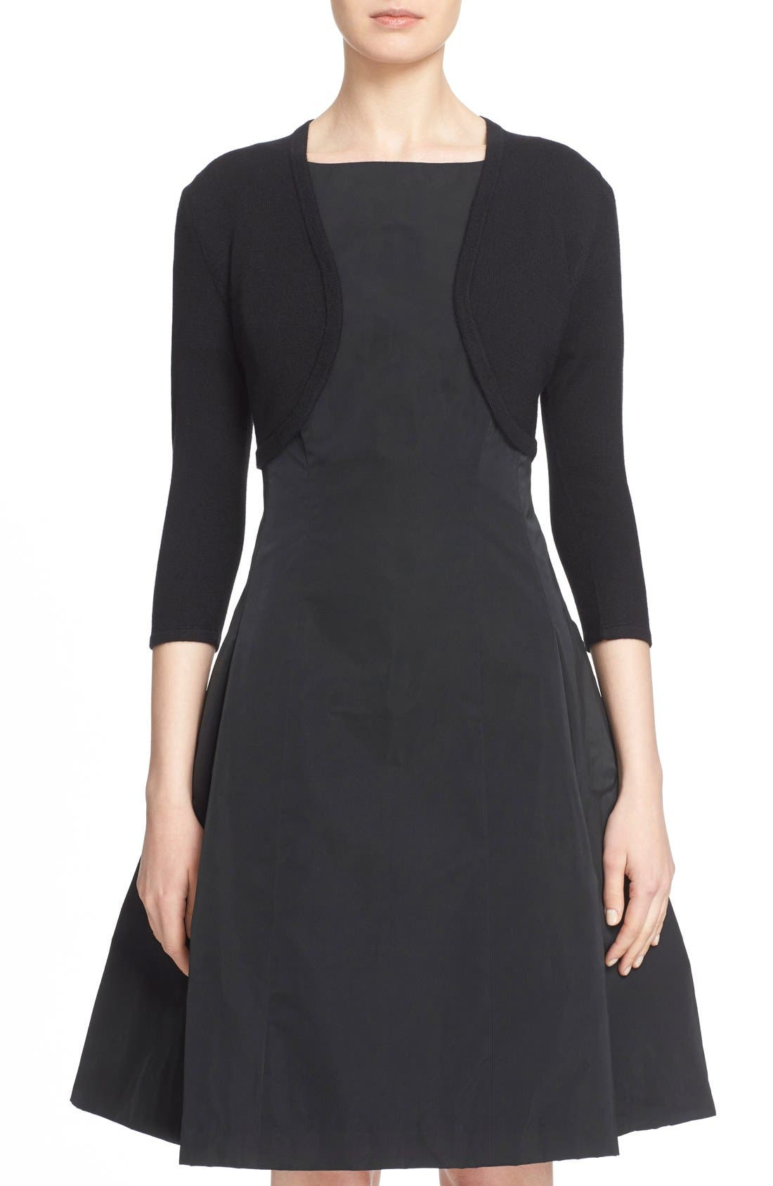 Cashmere & Silk Bolero,                         Main,                         color, BLACK