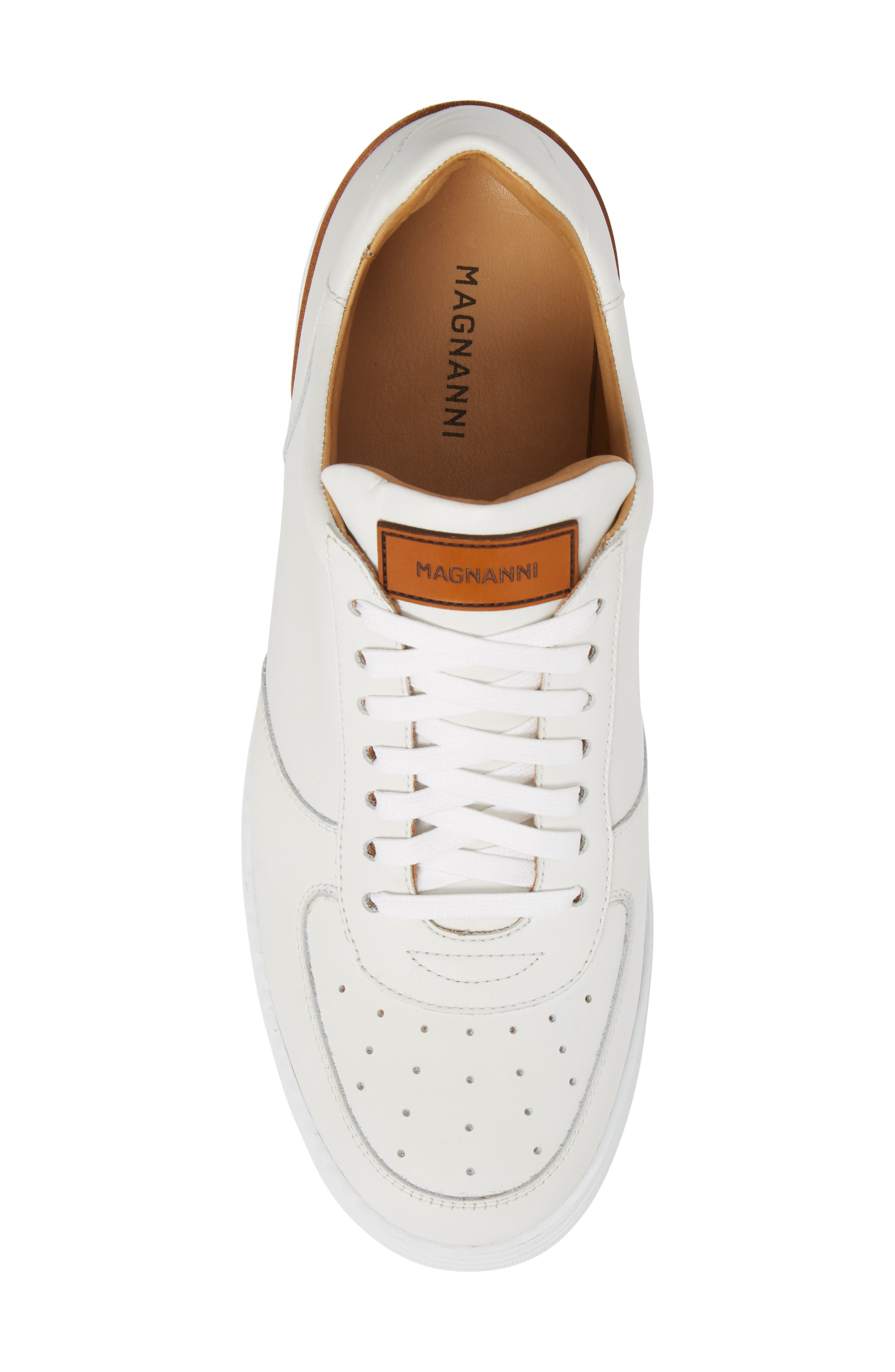 Vada Lo Lace Up Sneaker,                             Alternate thumbnail 5, color,                             WHITE LEATHER