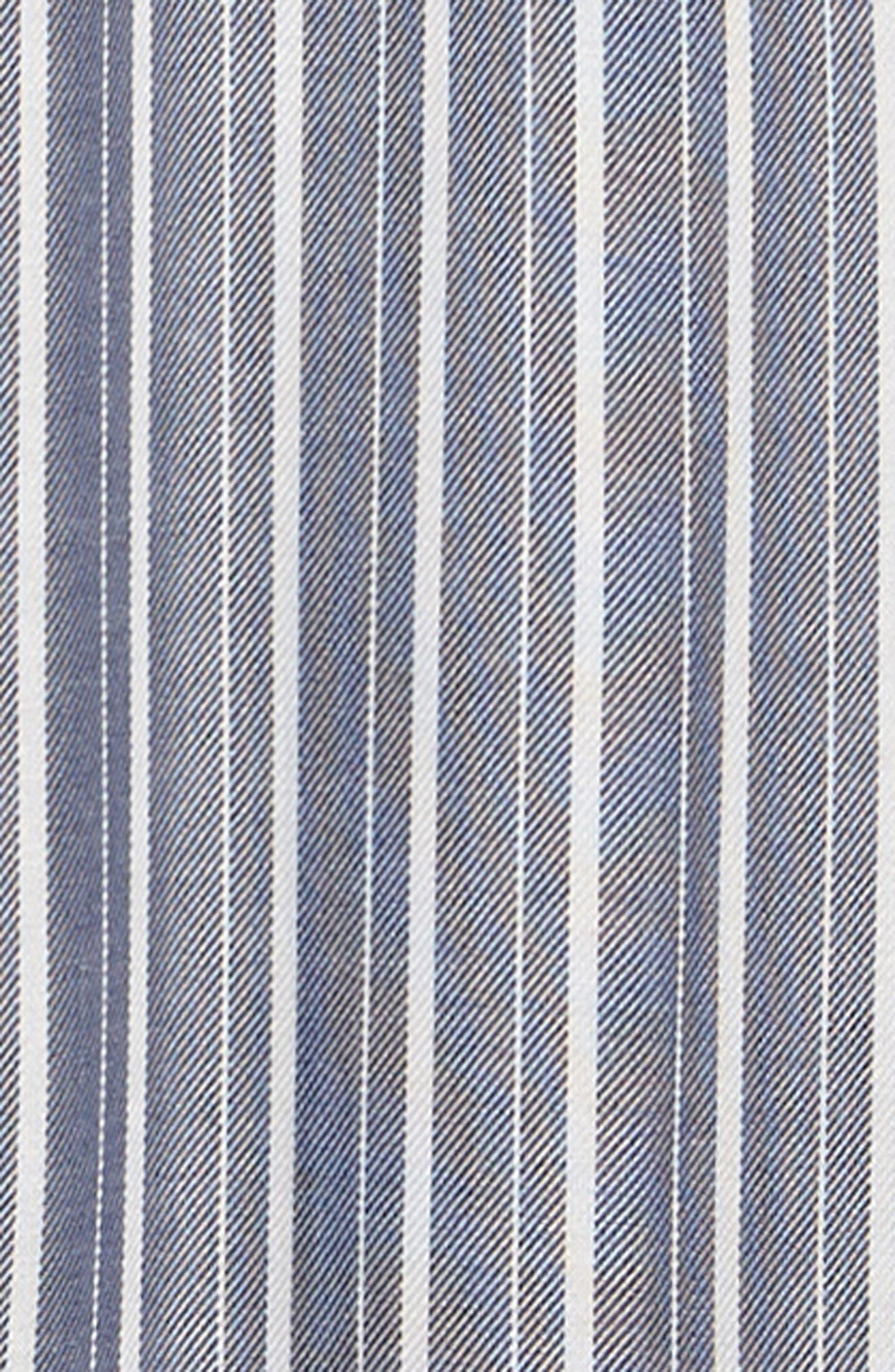 Stripe Off the Shoulder Jumpsuit,                             Alternate thumbnail 2, color,