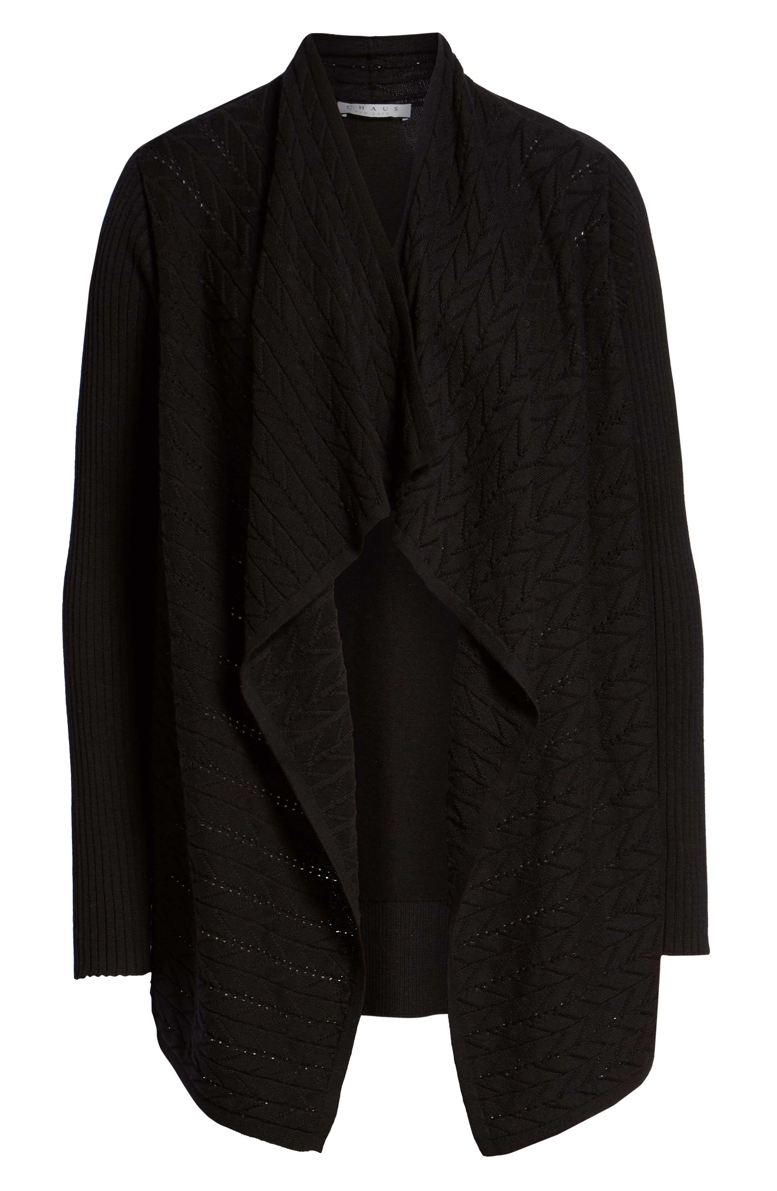Mixed Knit Cotton Cardigan,                             Alternate thumbnail 6, color,                             012