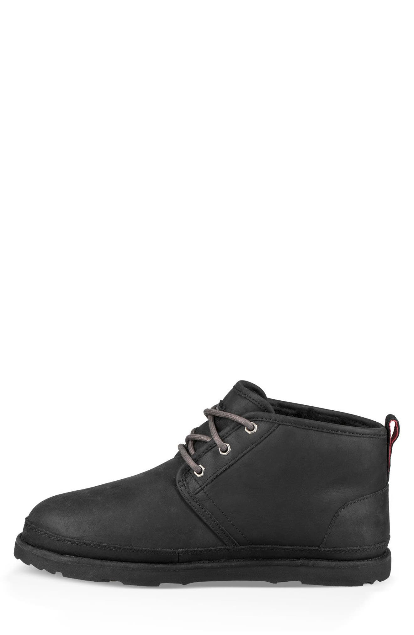 UGG<SUP>®</SUP>,                             Neumel Waterproof Chukka Boot,                             Alternate thumbnail 3, color,                             BLACK