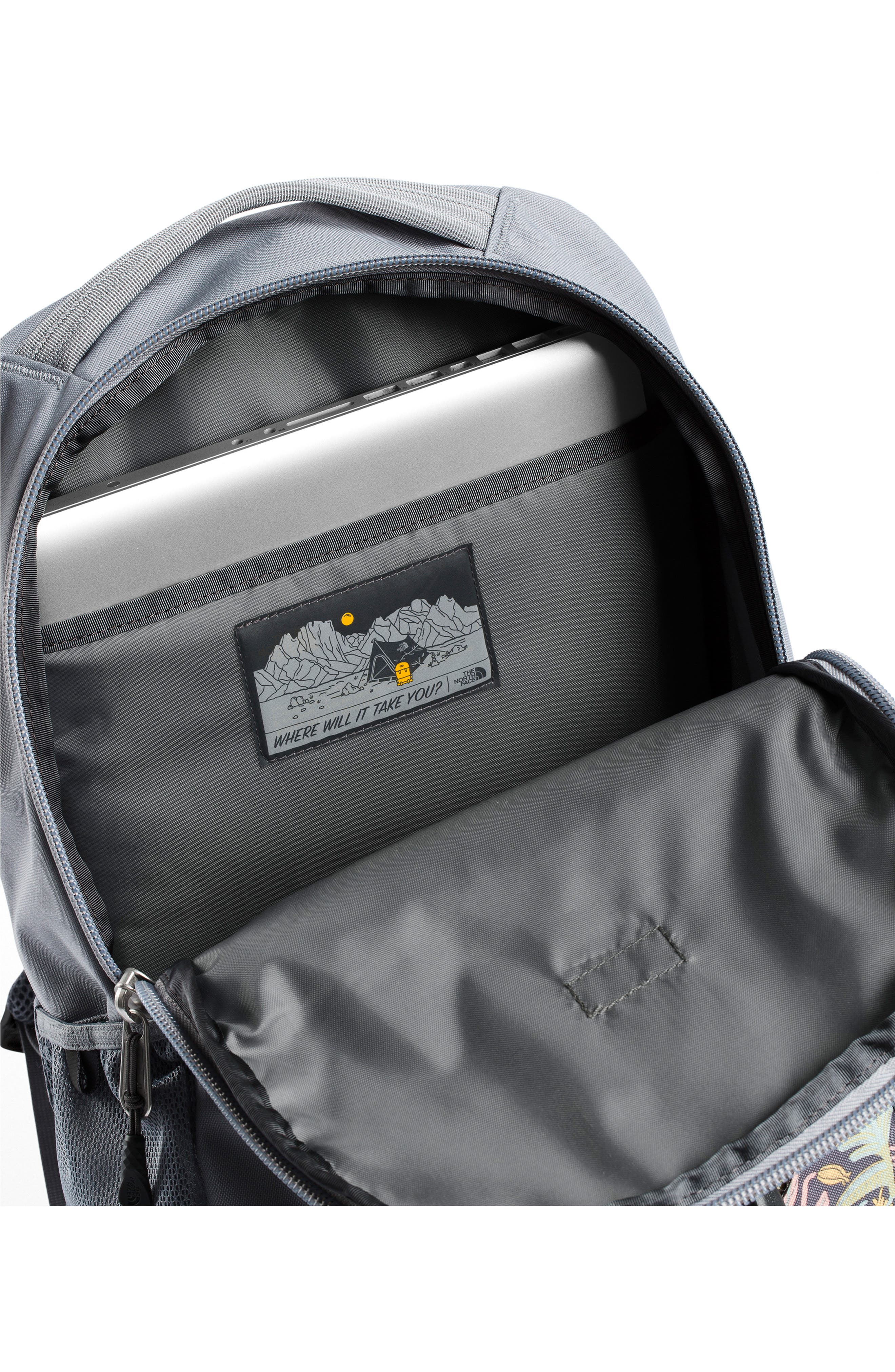 'Jester' Backpack,                             Alternate thumbnail 4, color,                             GREY FLORAL PRINT/ MID GREY