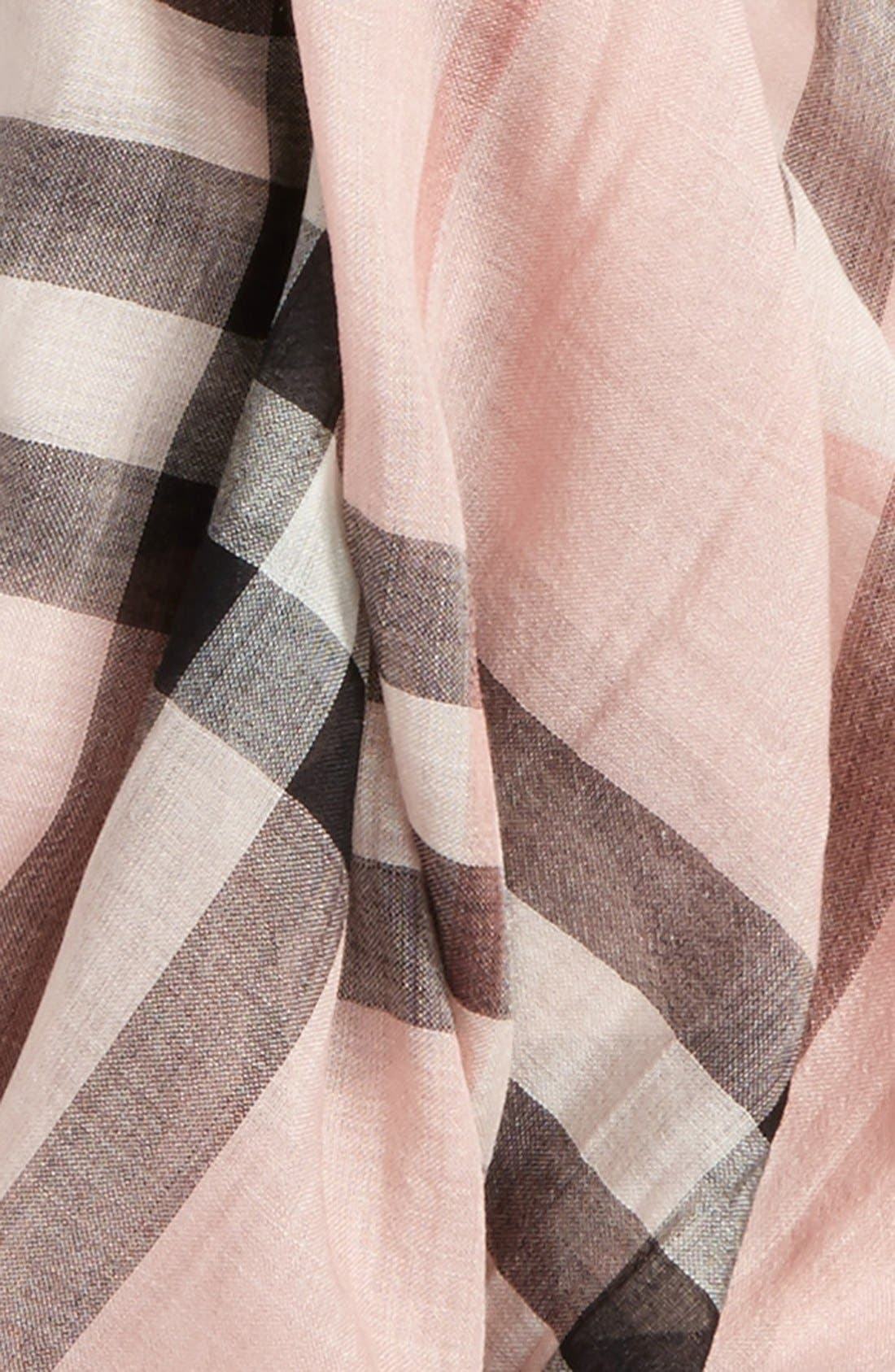 Giant Check Print Wool & Silk Scarf,                             Alternate thumbnail 116, color,