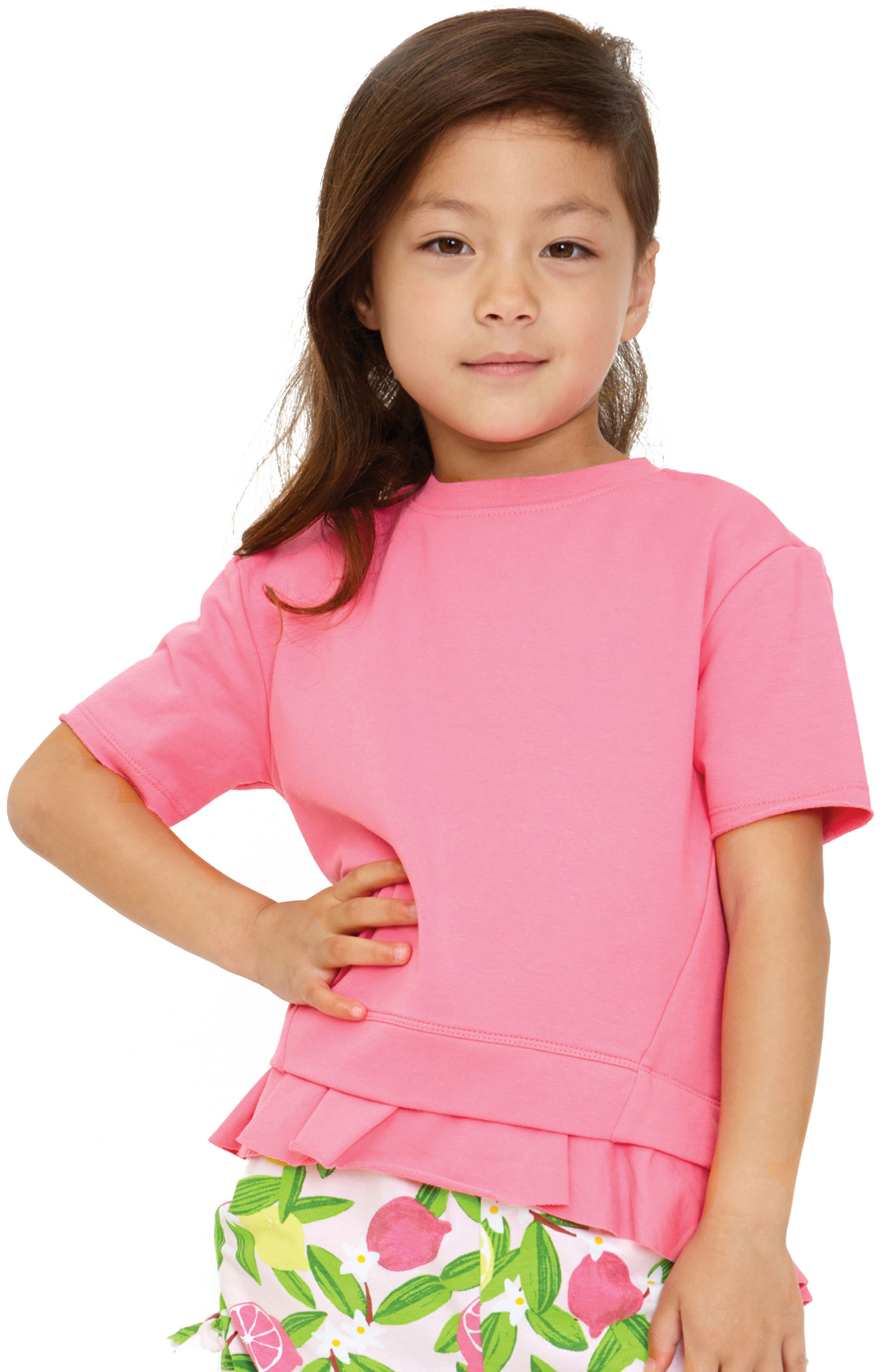 Ruffle Pullover,                             Alternate thumbnail 2, color,                             PINK