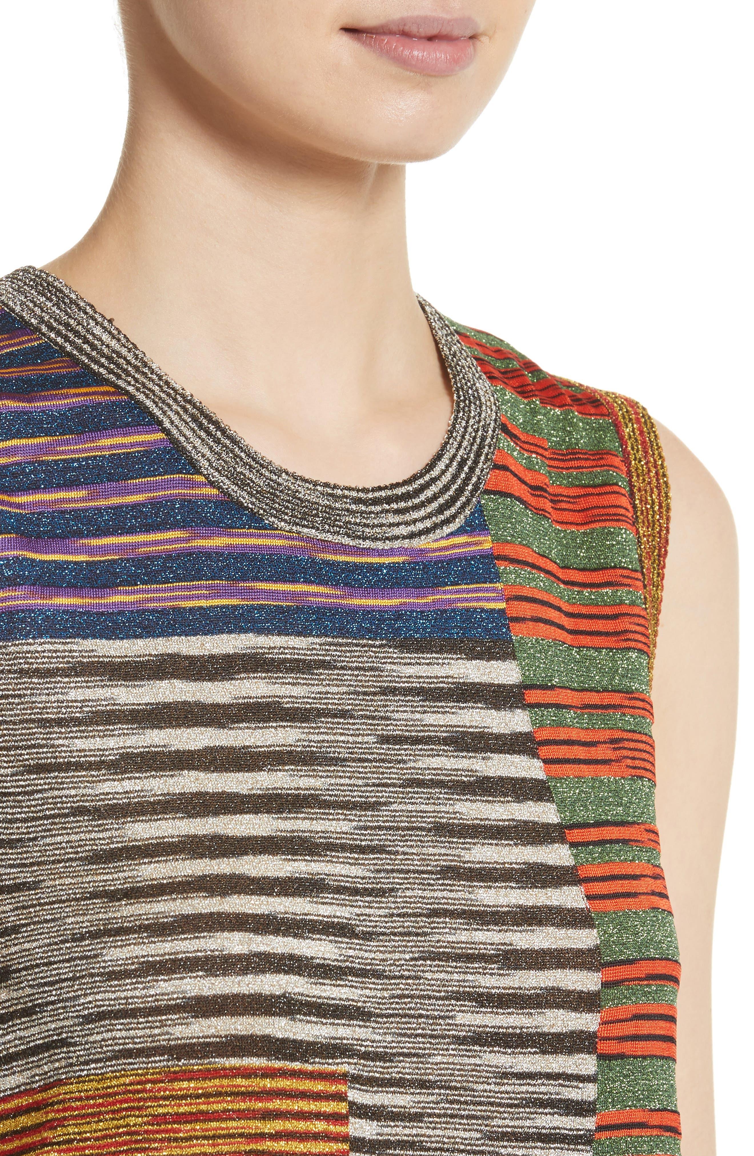 Stripe Space Dye Knit Tank,                             Alternate thumbnail 4, color,                             540