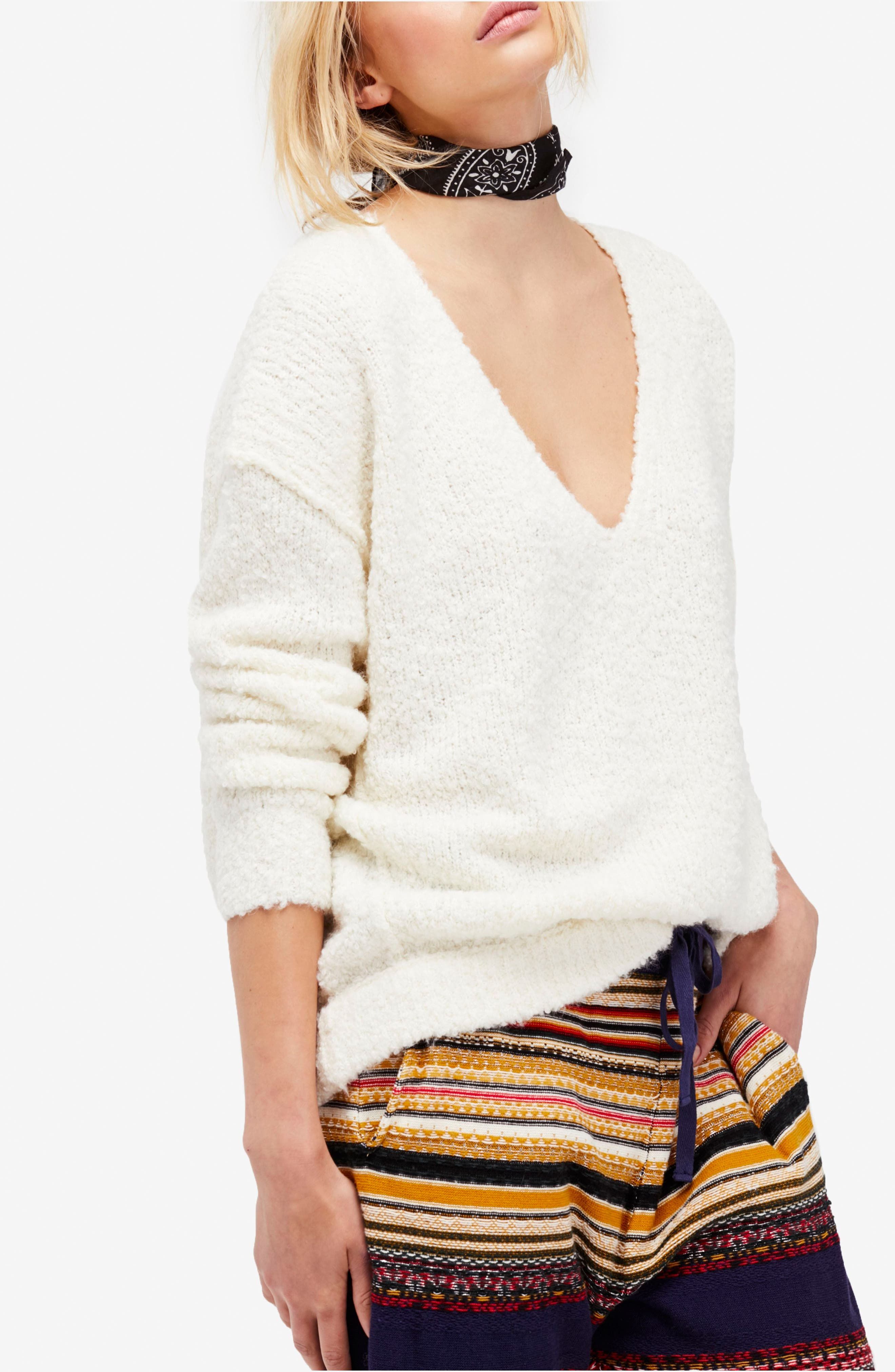 Lofty V-Neck Sweater,                             Alternate thumbnail 42, color,