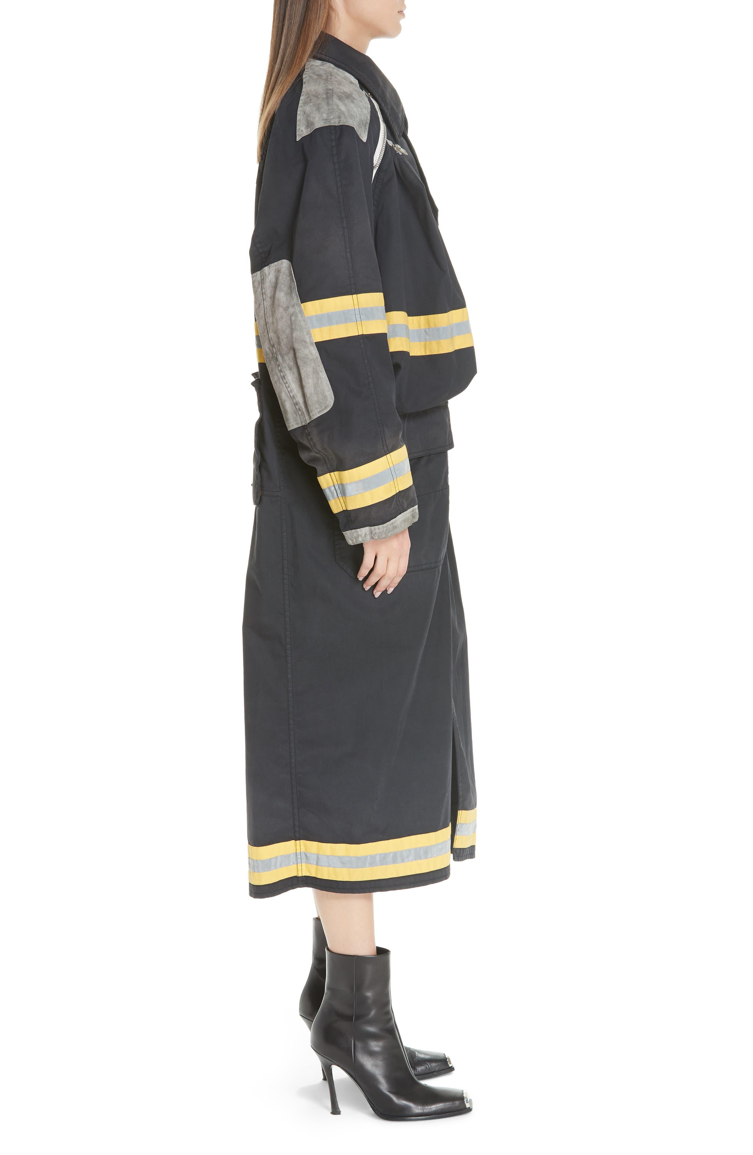 Fireman Coat,                             Alternate thumbnail 3, color,                             BLACK