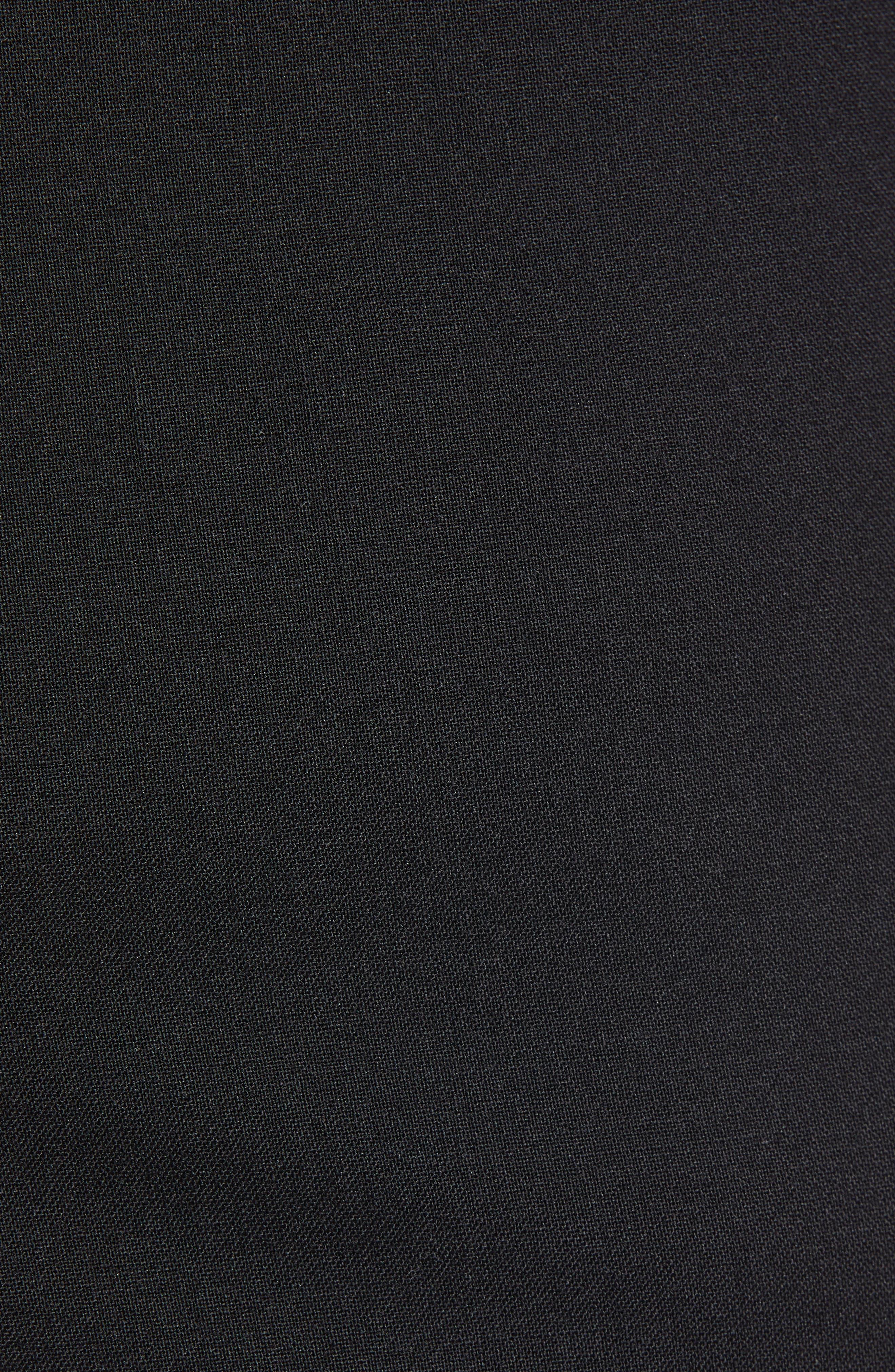 NORDSTROM MEN'S SHOP,                             Tech-Smart Trim Fit Stretch Wool Travel Trousers,                             Alternate thumbnail 5, color,                             BLACK