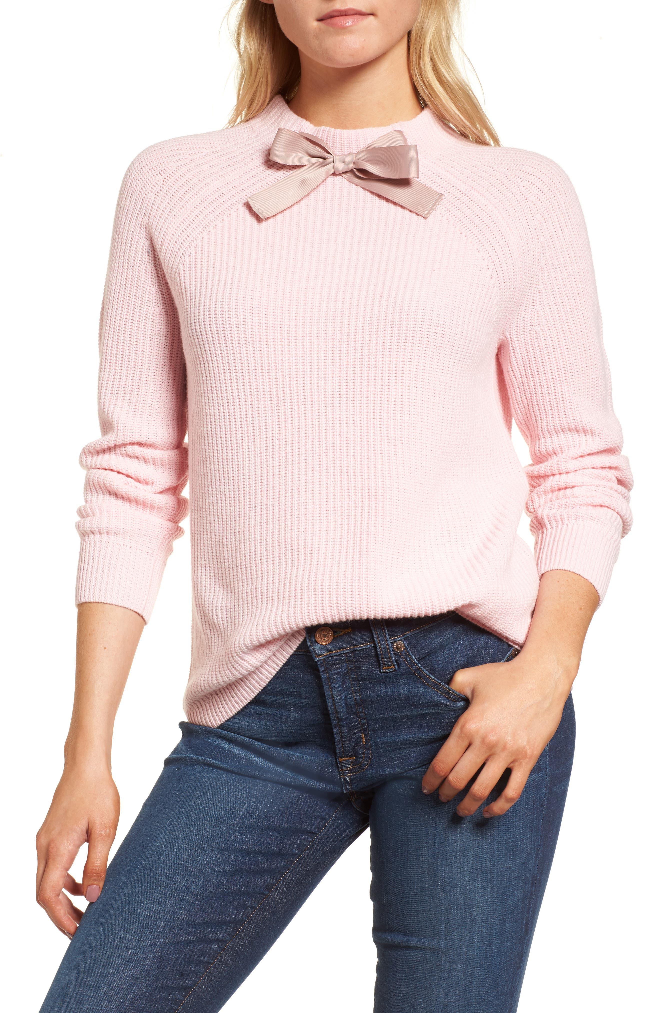 J.CREW Gayle Tie Neck Sweater, Main, color, 650
