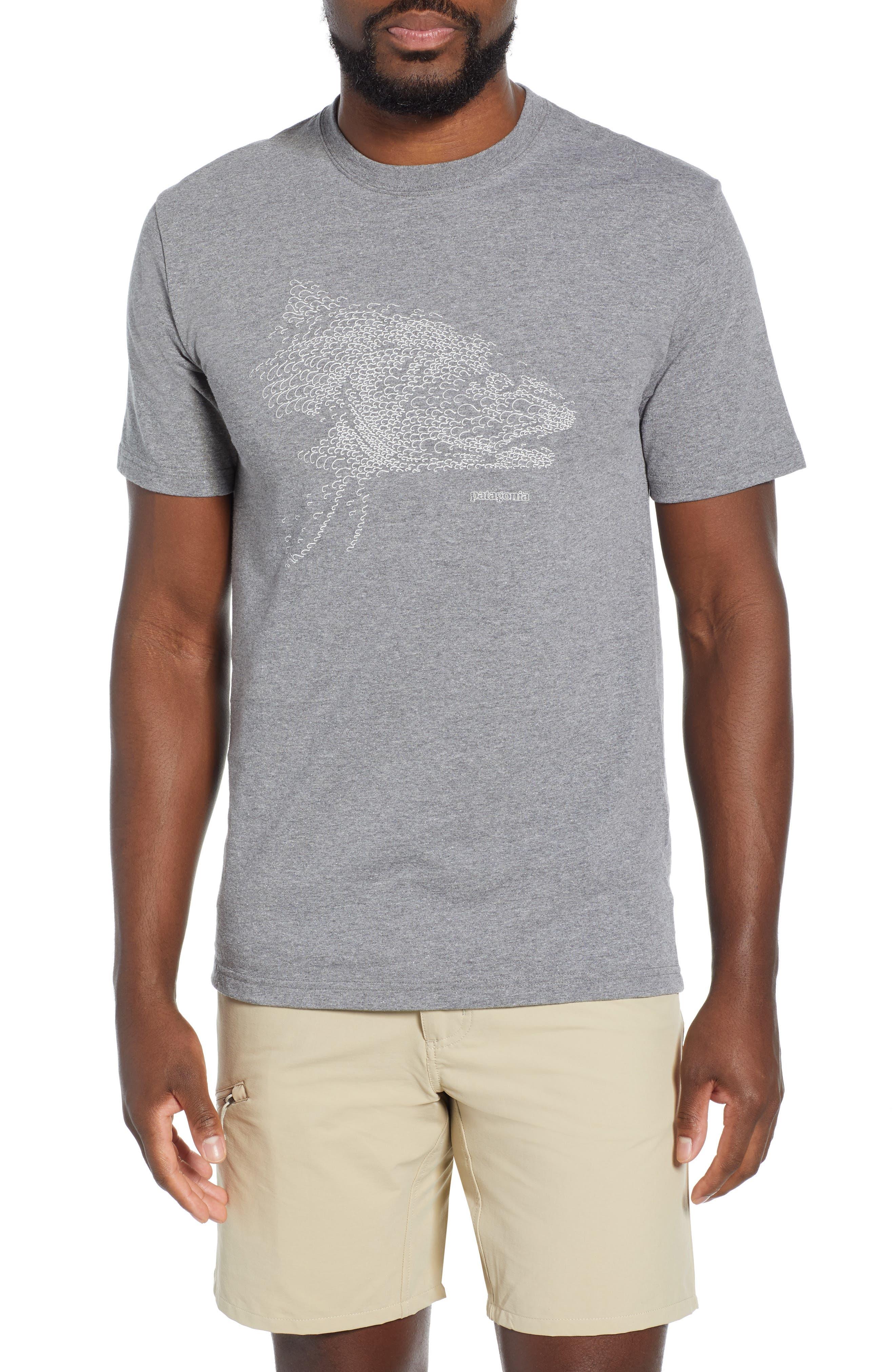 Patagonia Hooked Head Responsibili-Tee T-Shirt, Grey