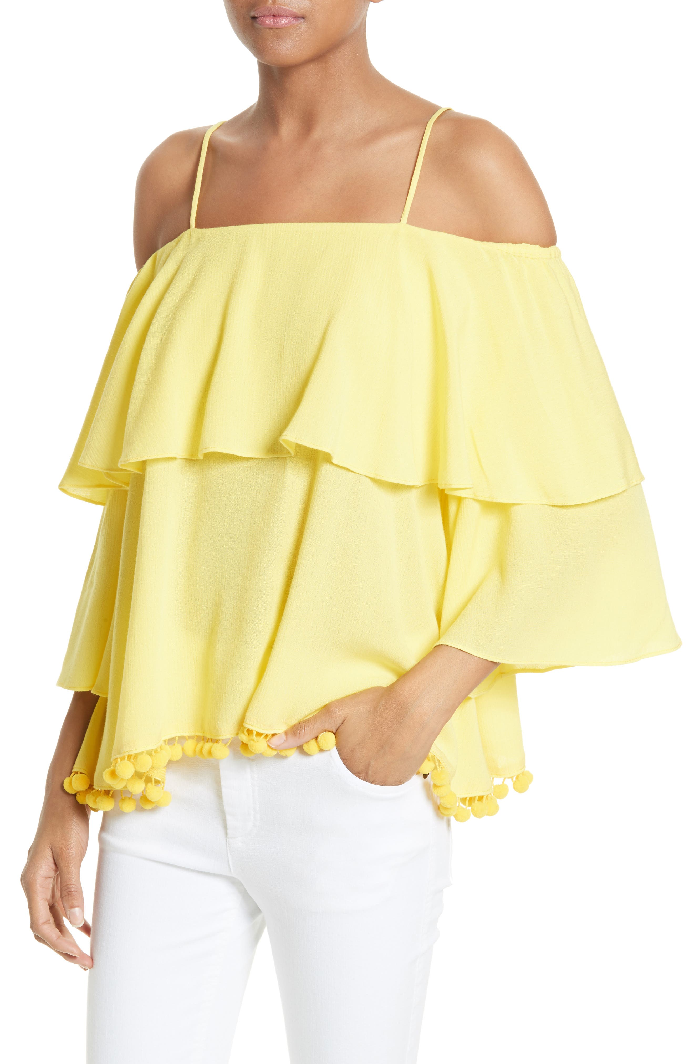 Meagan Tiered Blouse,                             Alternate thumbnail 4, color,                             703