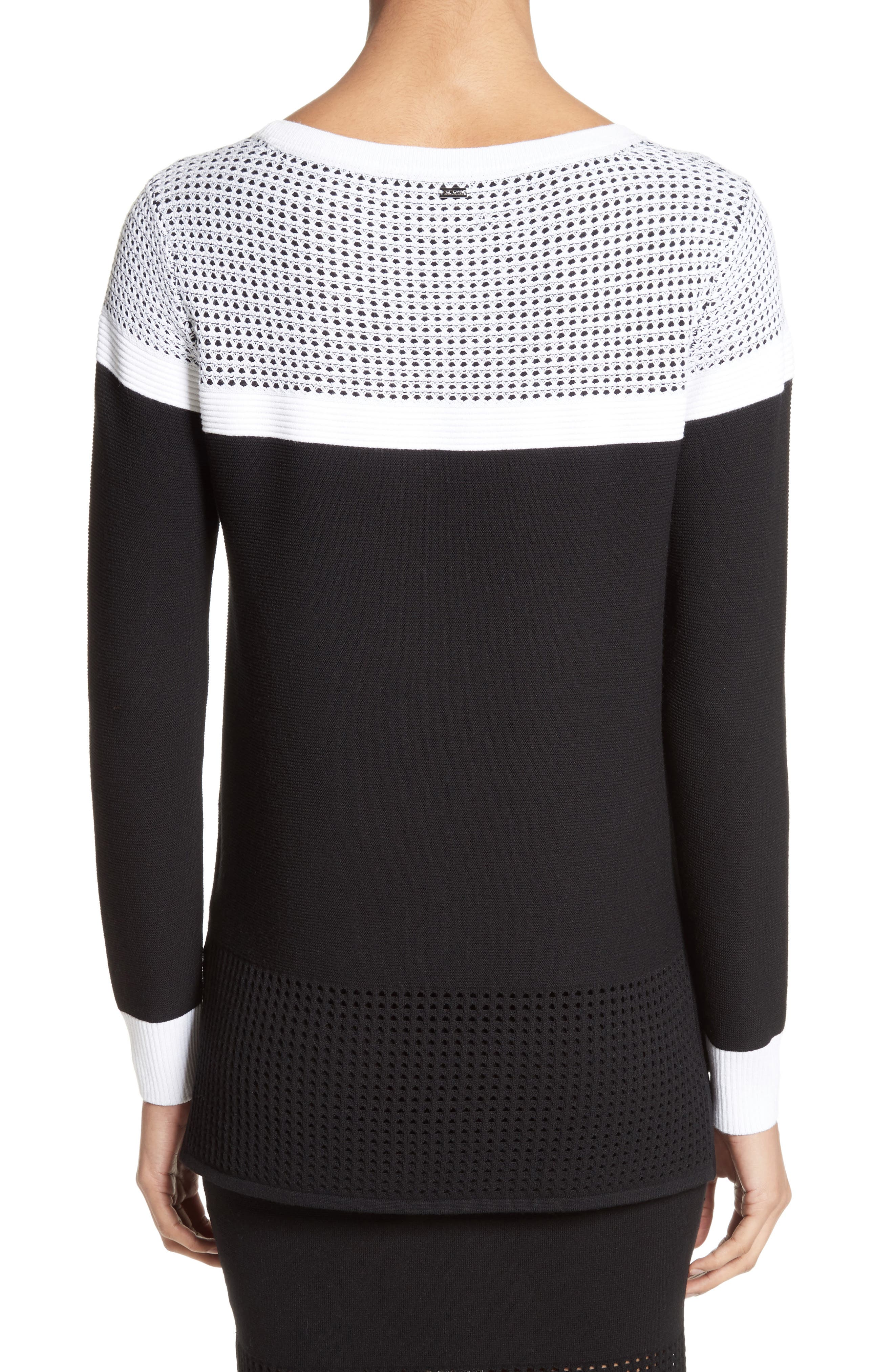 Technical Mesh Stitch Sweater,                             Alternate thumbnail 2, color,                             001