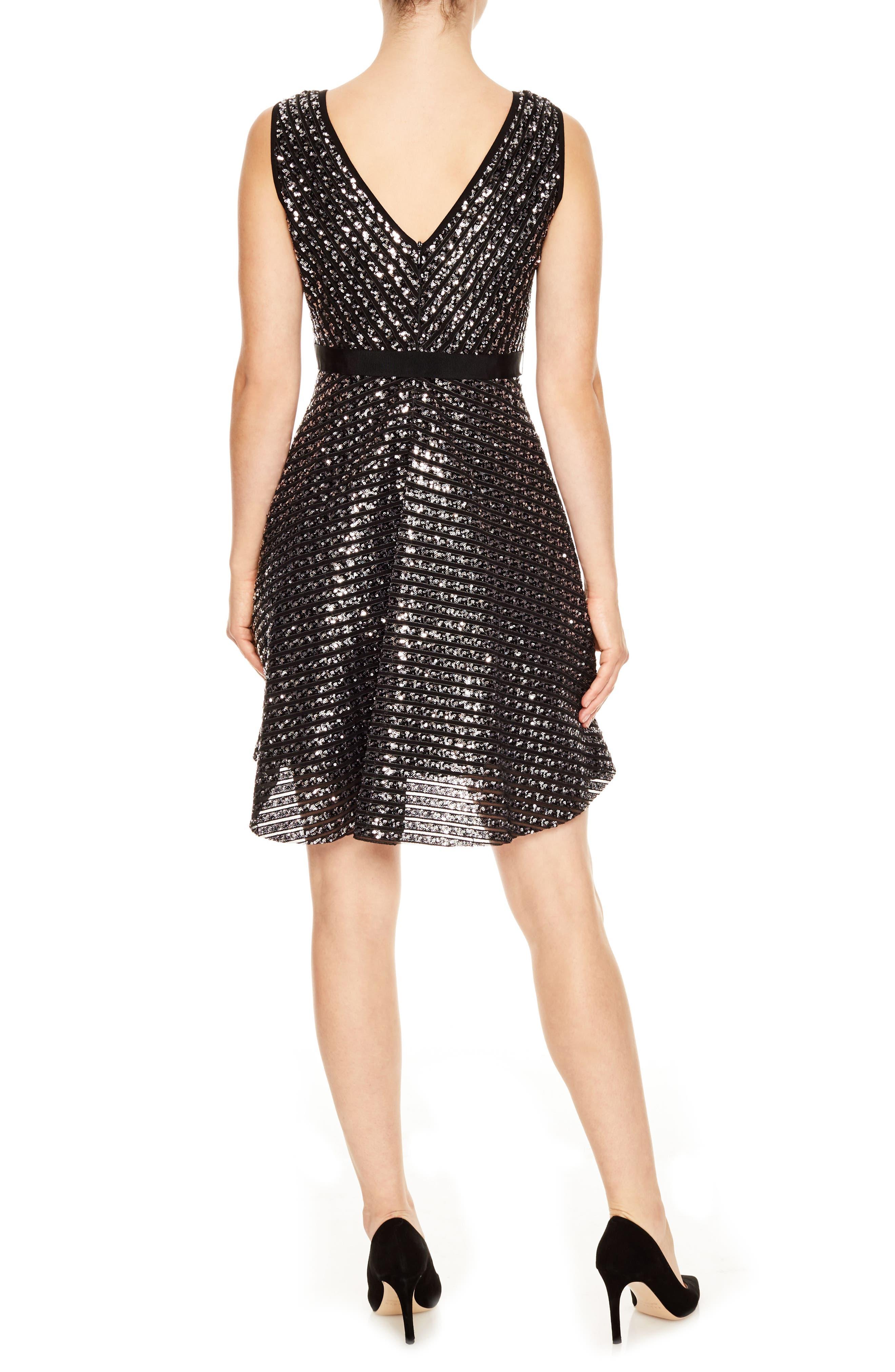 Nolene Sequin Fit & Flare Dress,                             Alternate thumbnail 2, color,                             041