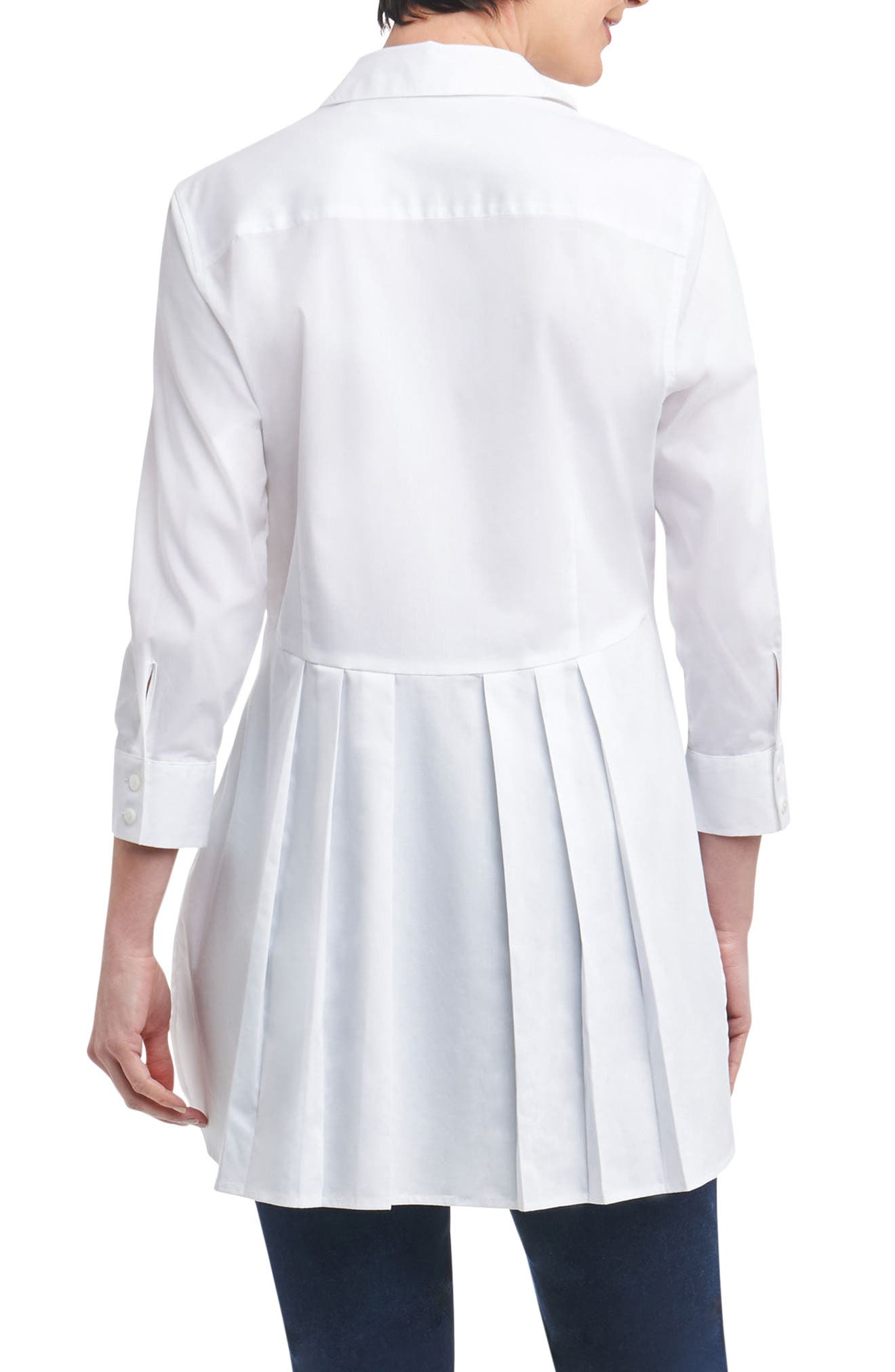 Gwen Stretch Tunic Shirt,                             Alternate thumbnail 2, color,