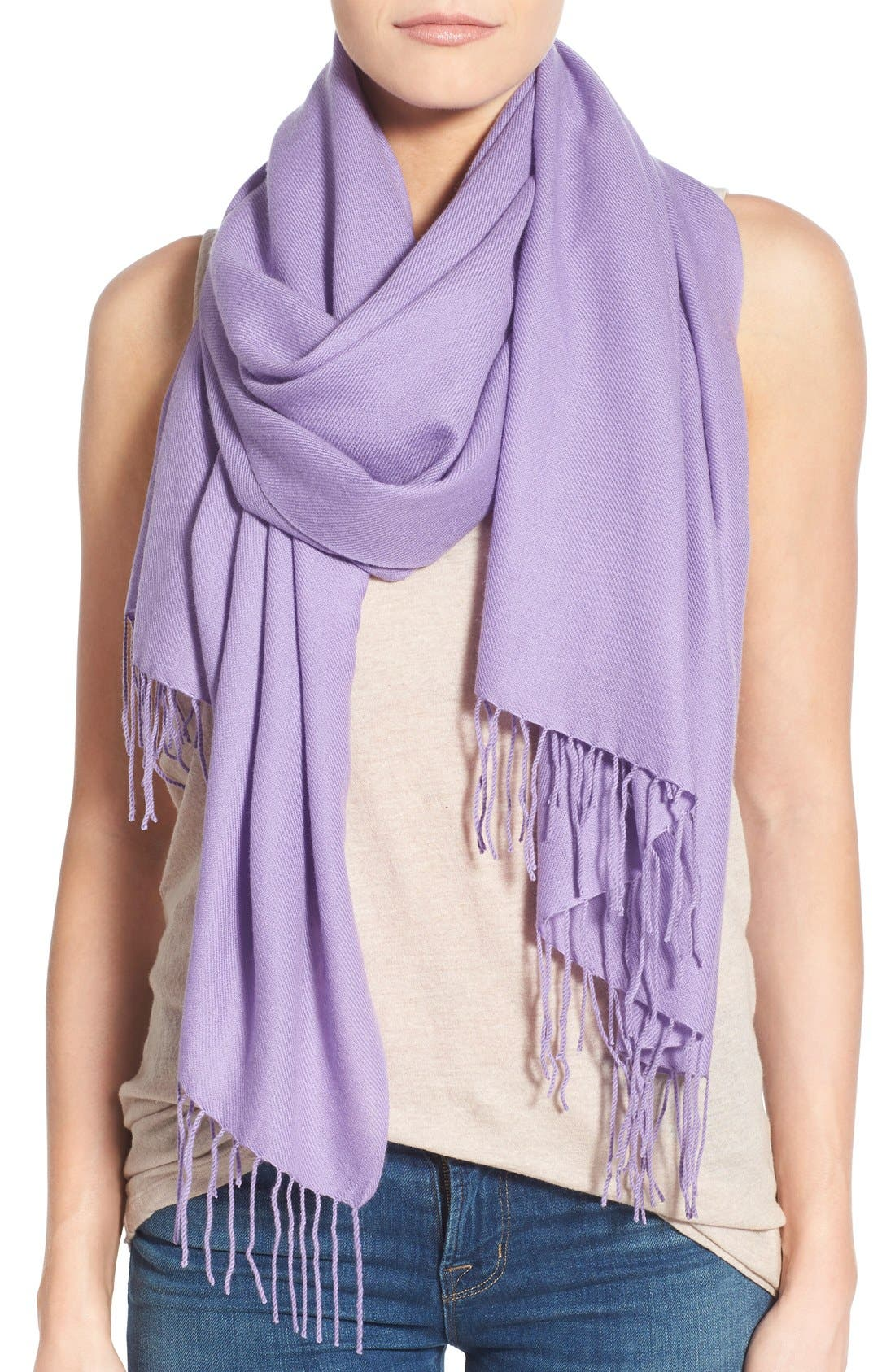 Tissue Weight Wool & Cashmere Scarf,                             Main thumbnail 51, color,