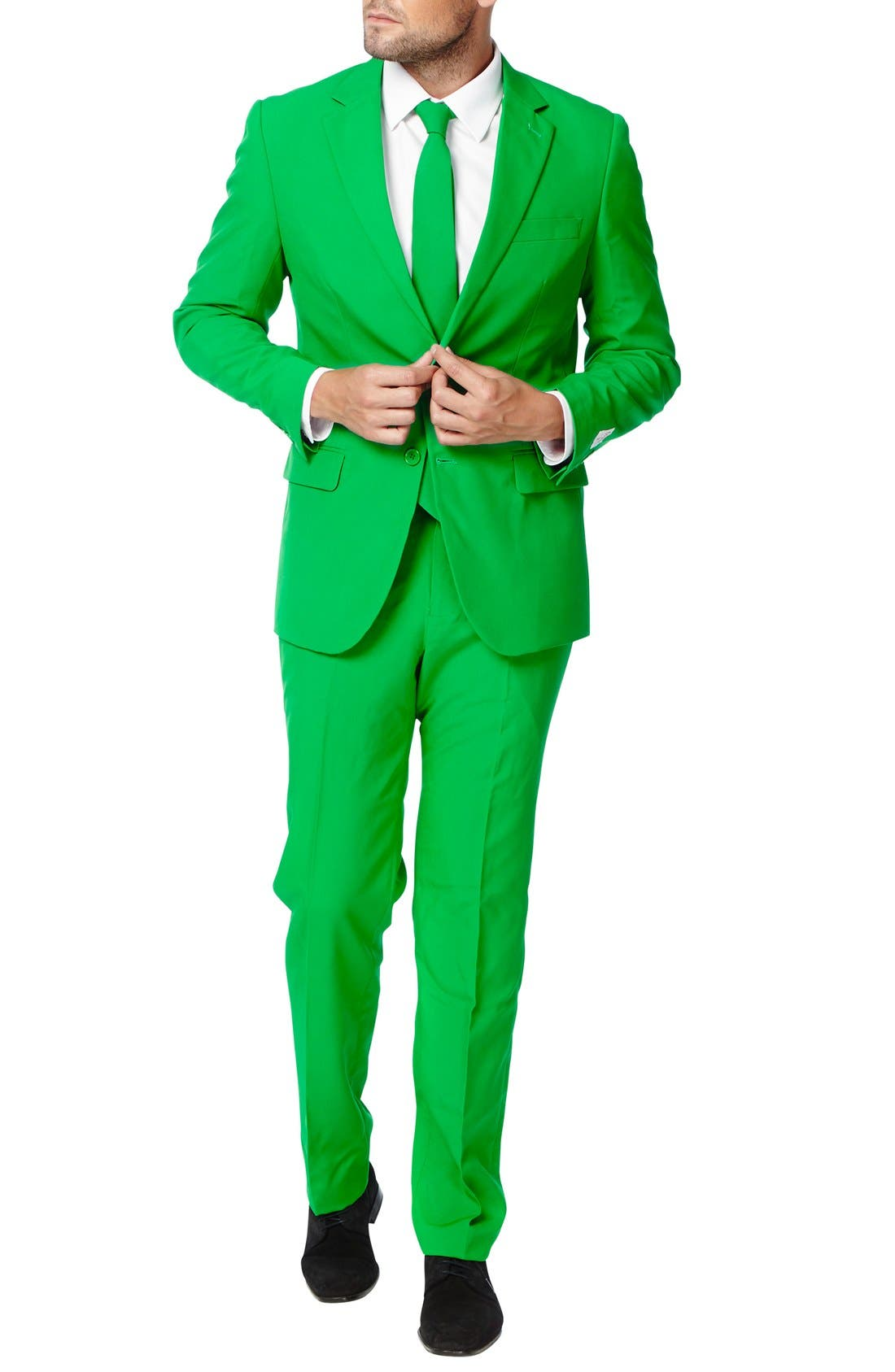 'Evergreen' Trim Fit Suit with Tie,                             Alternate thumbnail 4, color,                             300