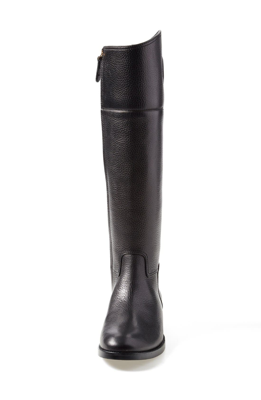 TORY BURCH,                             'Junction' Riding Boot,                             Alternate thumbnail 2, color,                             001