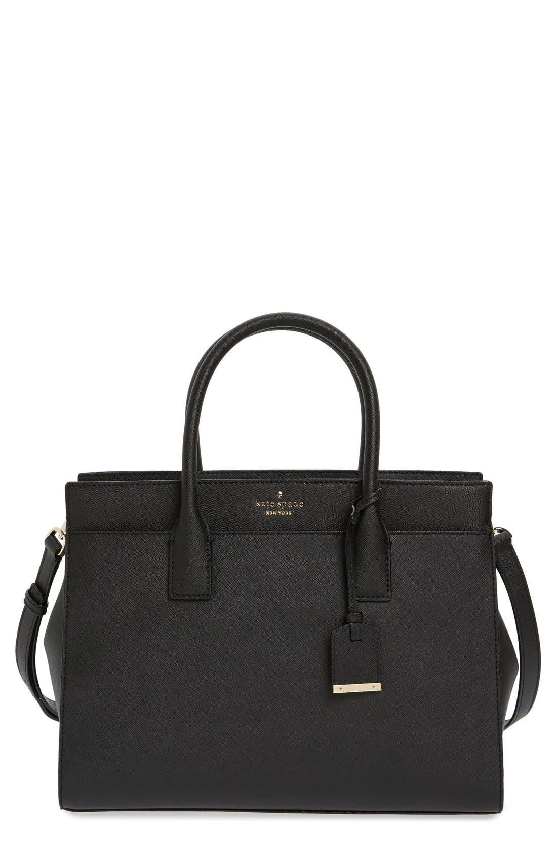 cameron street - candace leather satchel,                         Main,                         color, BLACK