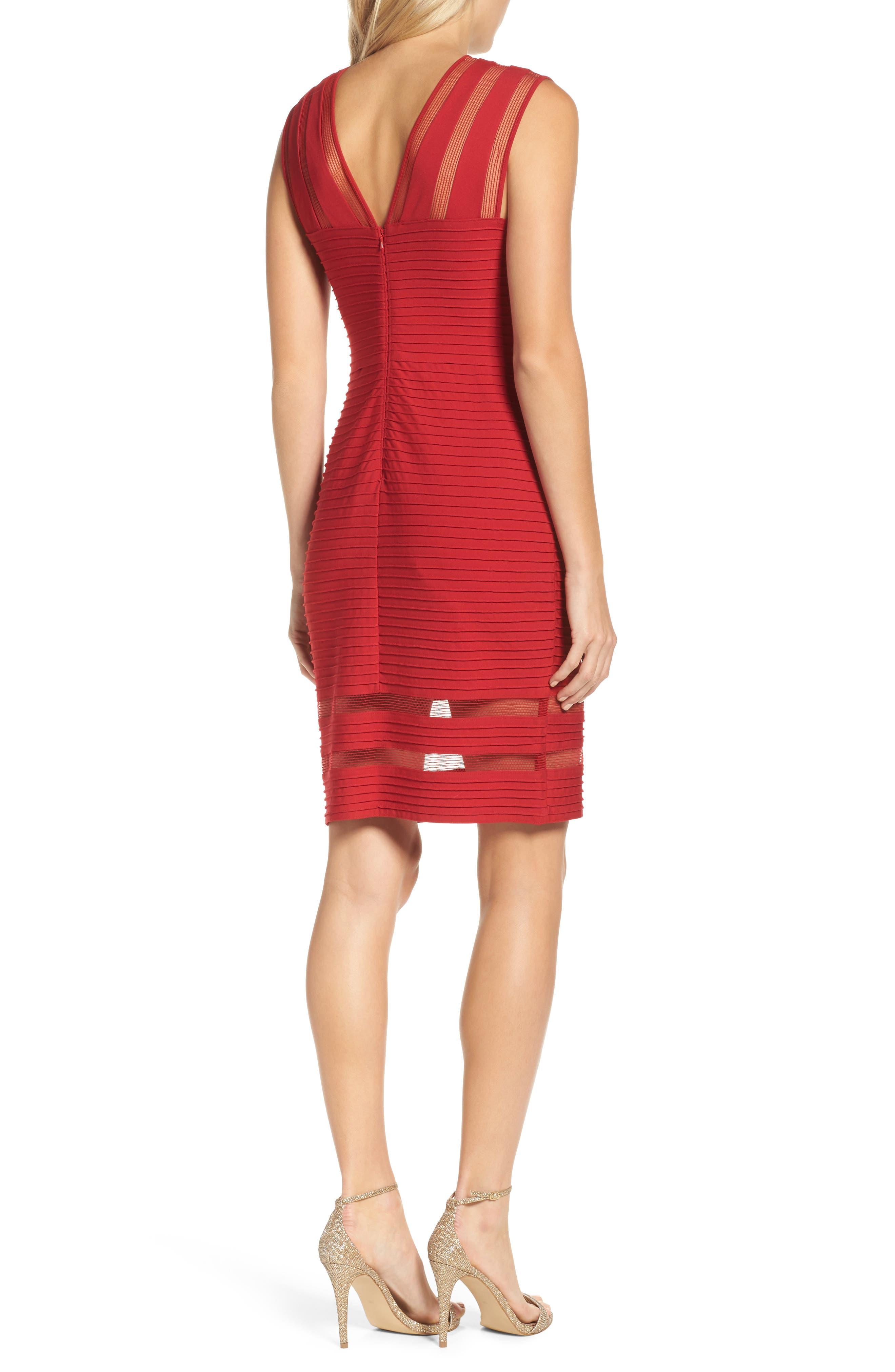 Sleeveless Pintuck Dress,                             Alternate thumbnail 2, color,