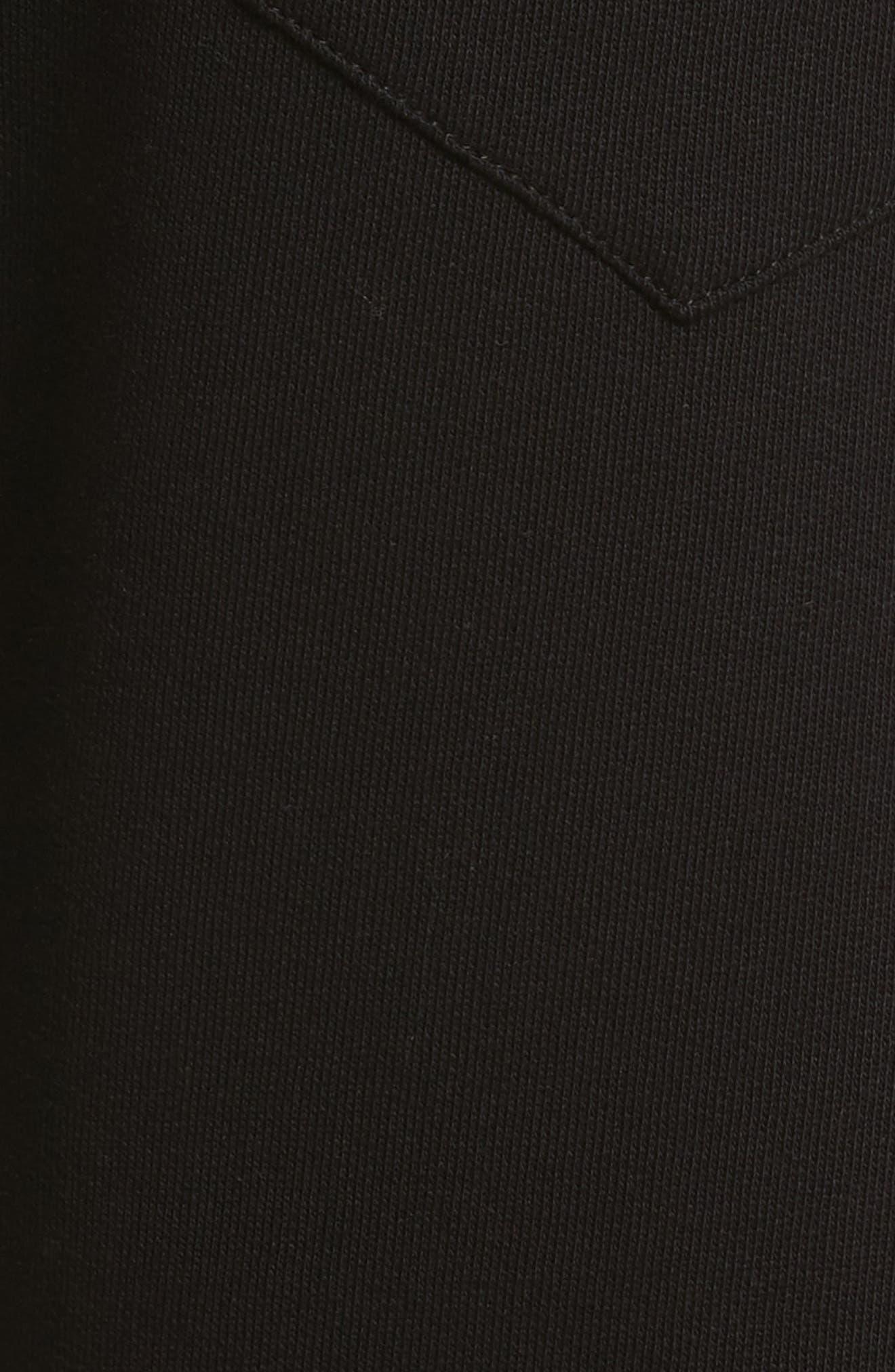 Medusa Embroidered Jogger Pants,                             Alternate thumbnail 5, color,                             BLACK