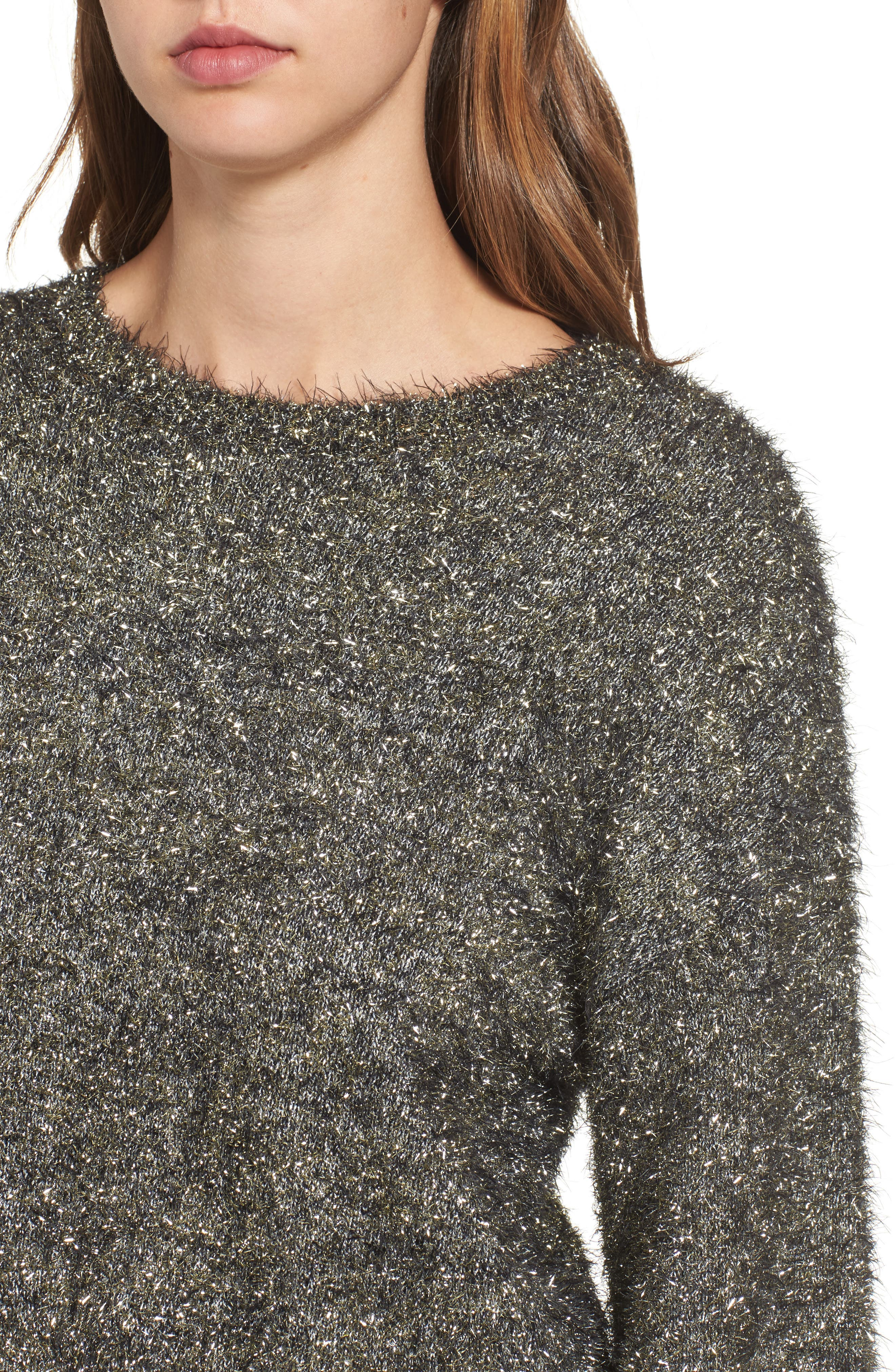Fluffy Sparkle Sweater,                             Alternate thumbnail 4, color,                             710