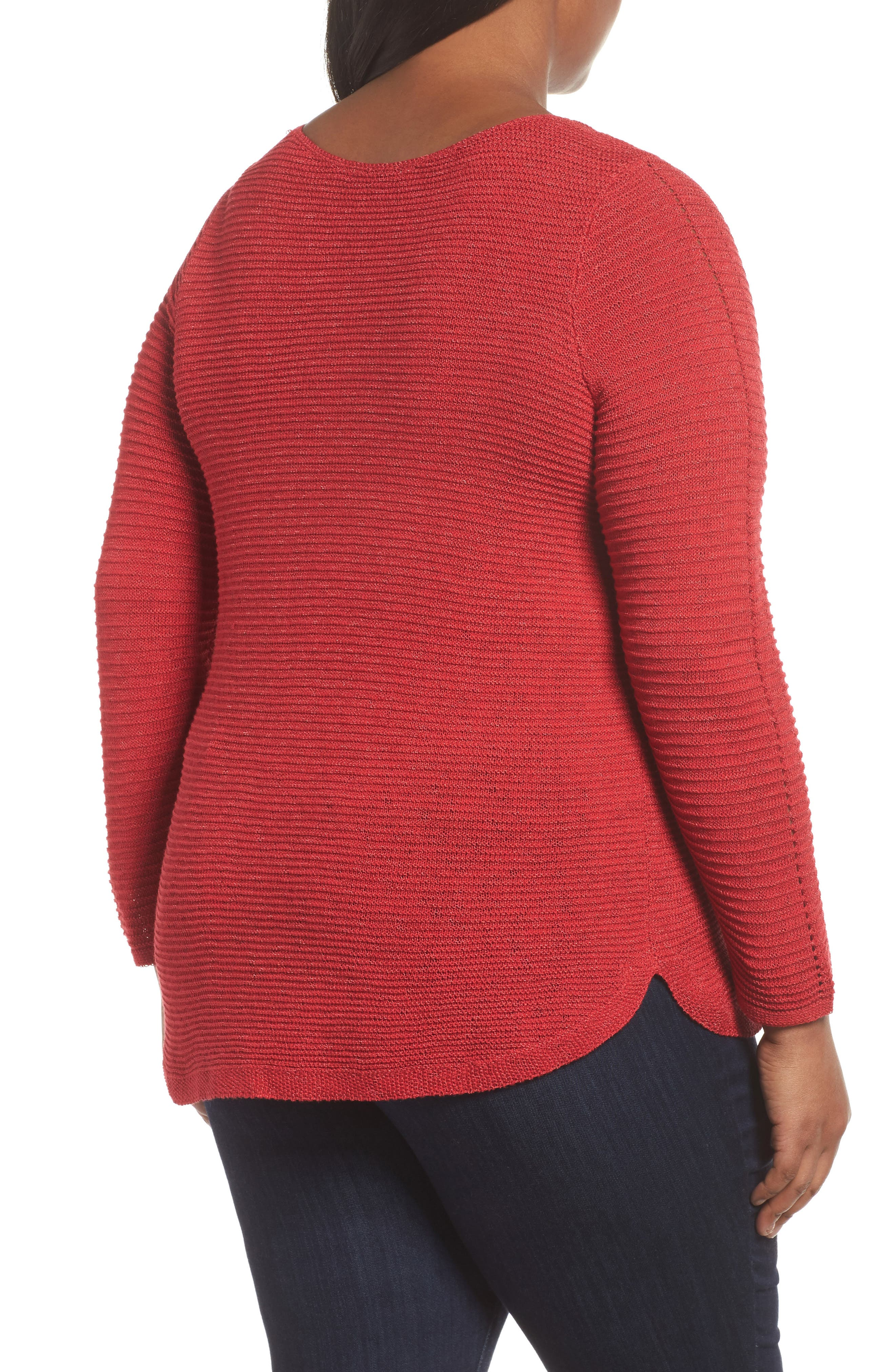 Braided Up Sweater,                             Alternate thumbnail 2, color,                             TRUE RED